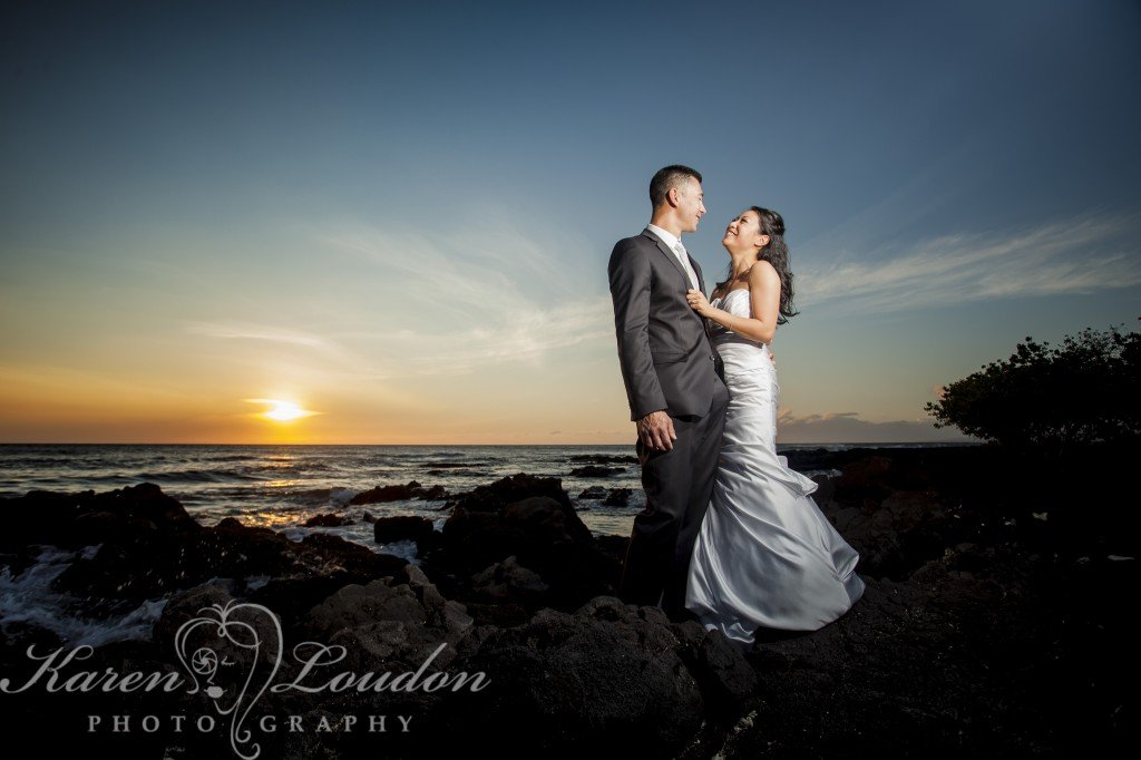 Karen and Aaron elope on the Big Island on Hawaii
