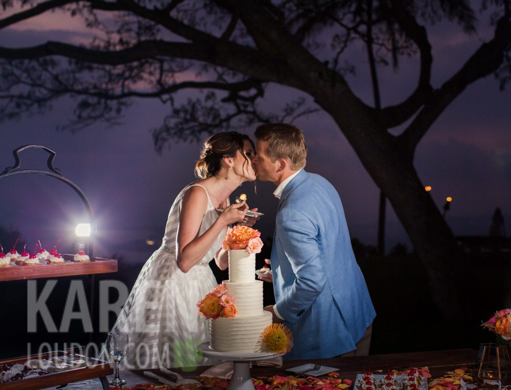 Big Island Hawaii wedding cake
