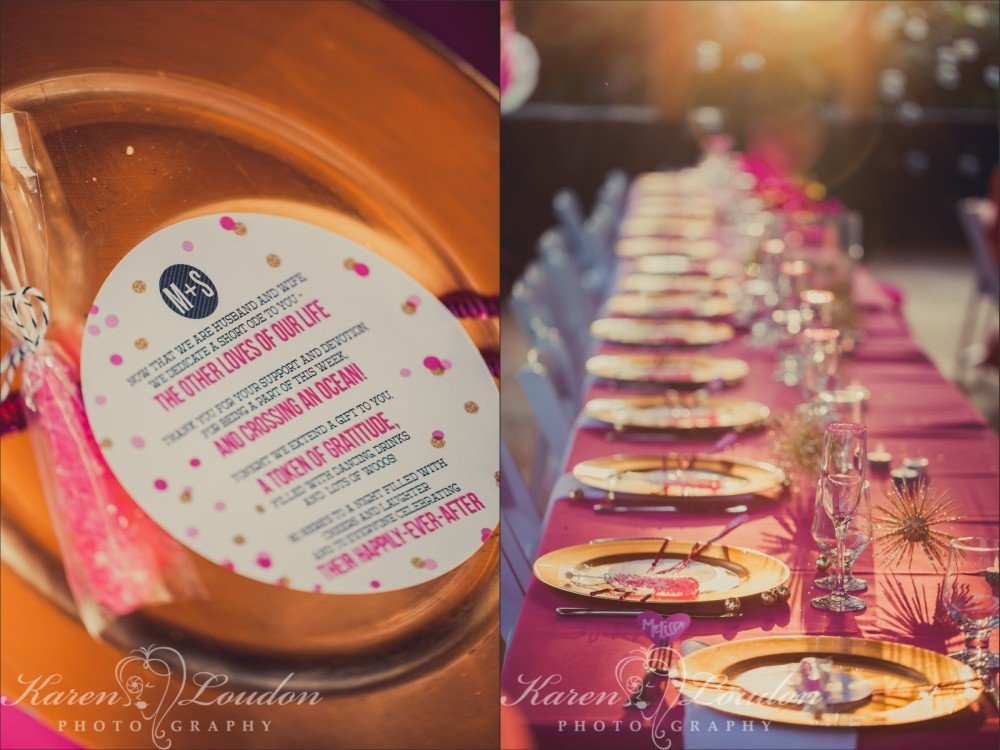 Kona wedding reception
