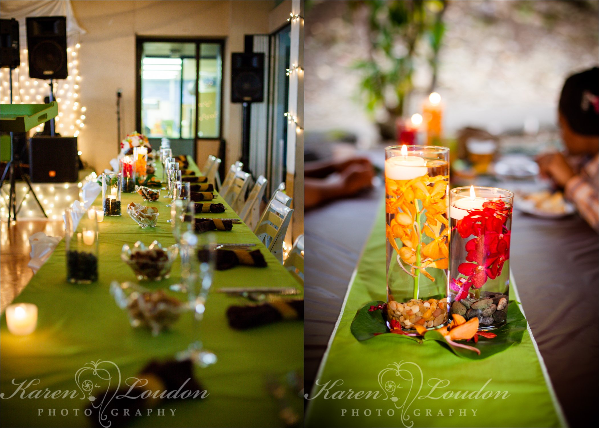 Kona wedding reception