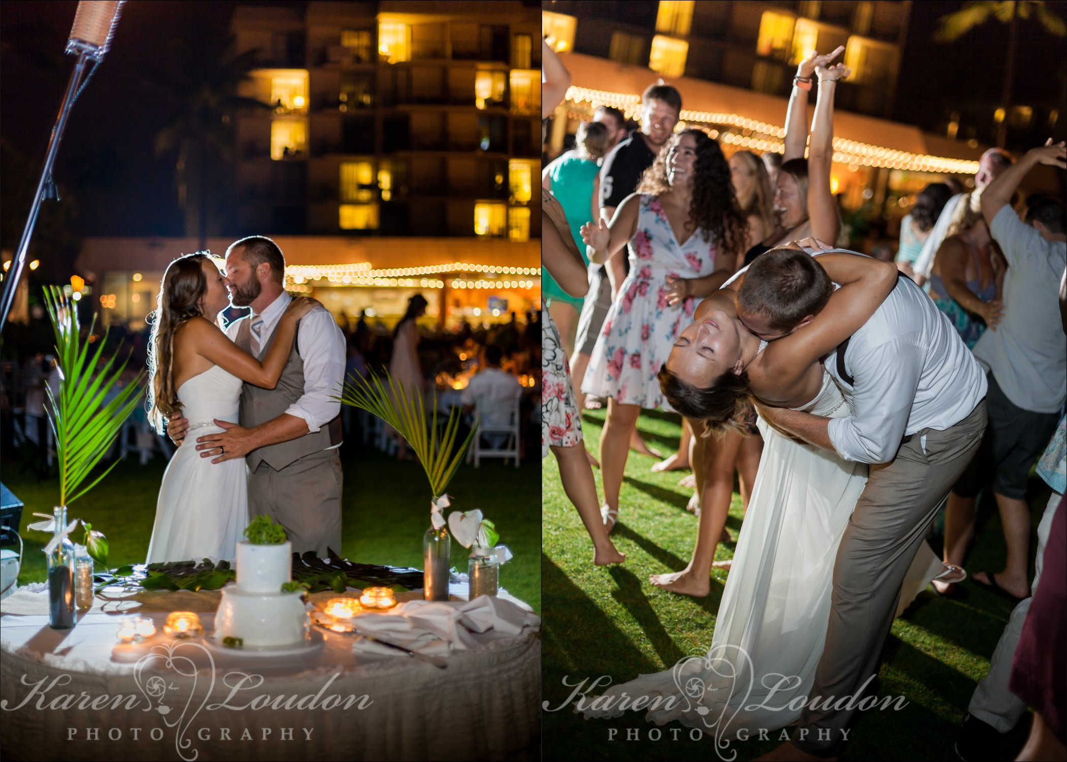 Kona Courtyard Marriott wedding reception