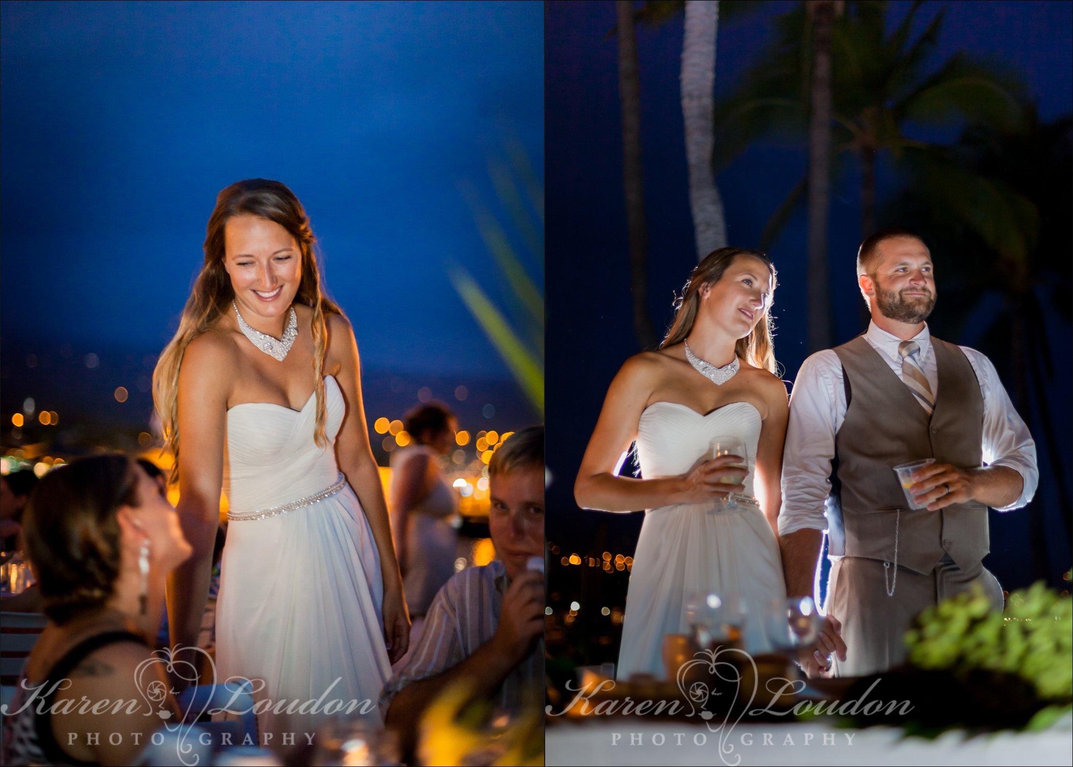 Kona beach hotel wedding reception