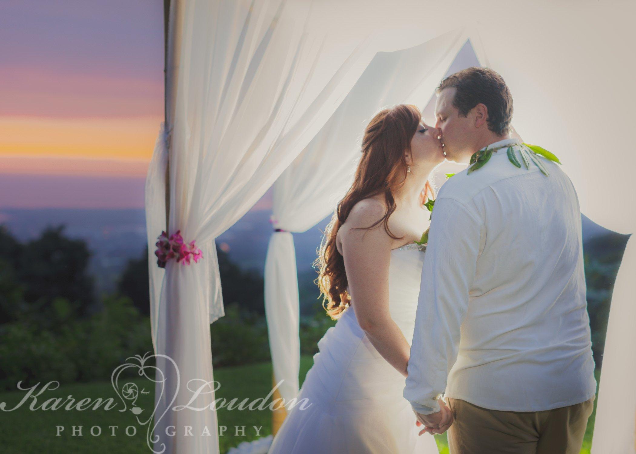 Holualoa Bride and Groom