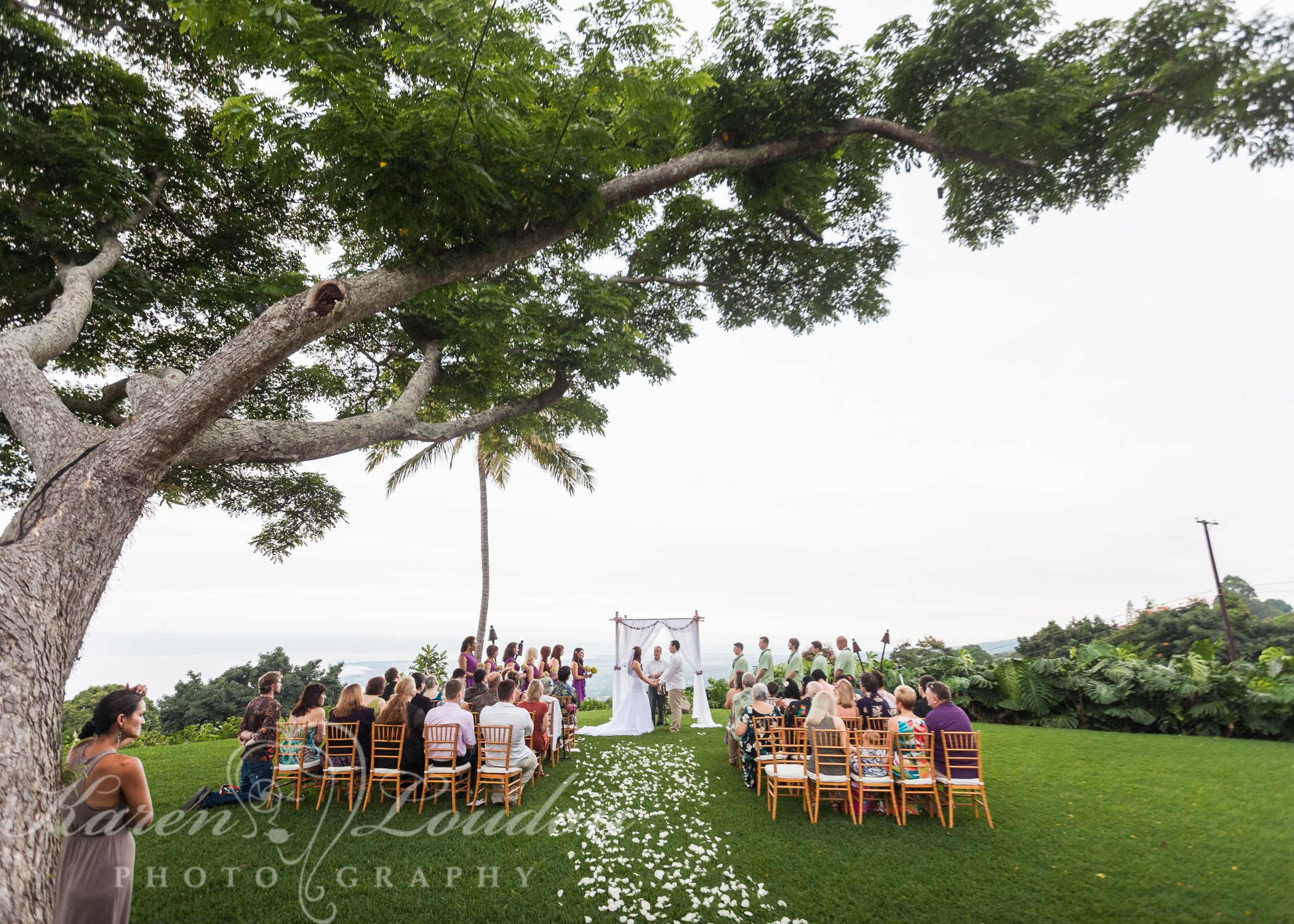 Holualoa Inn wedding ceremony