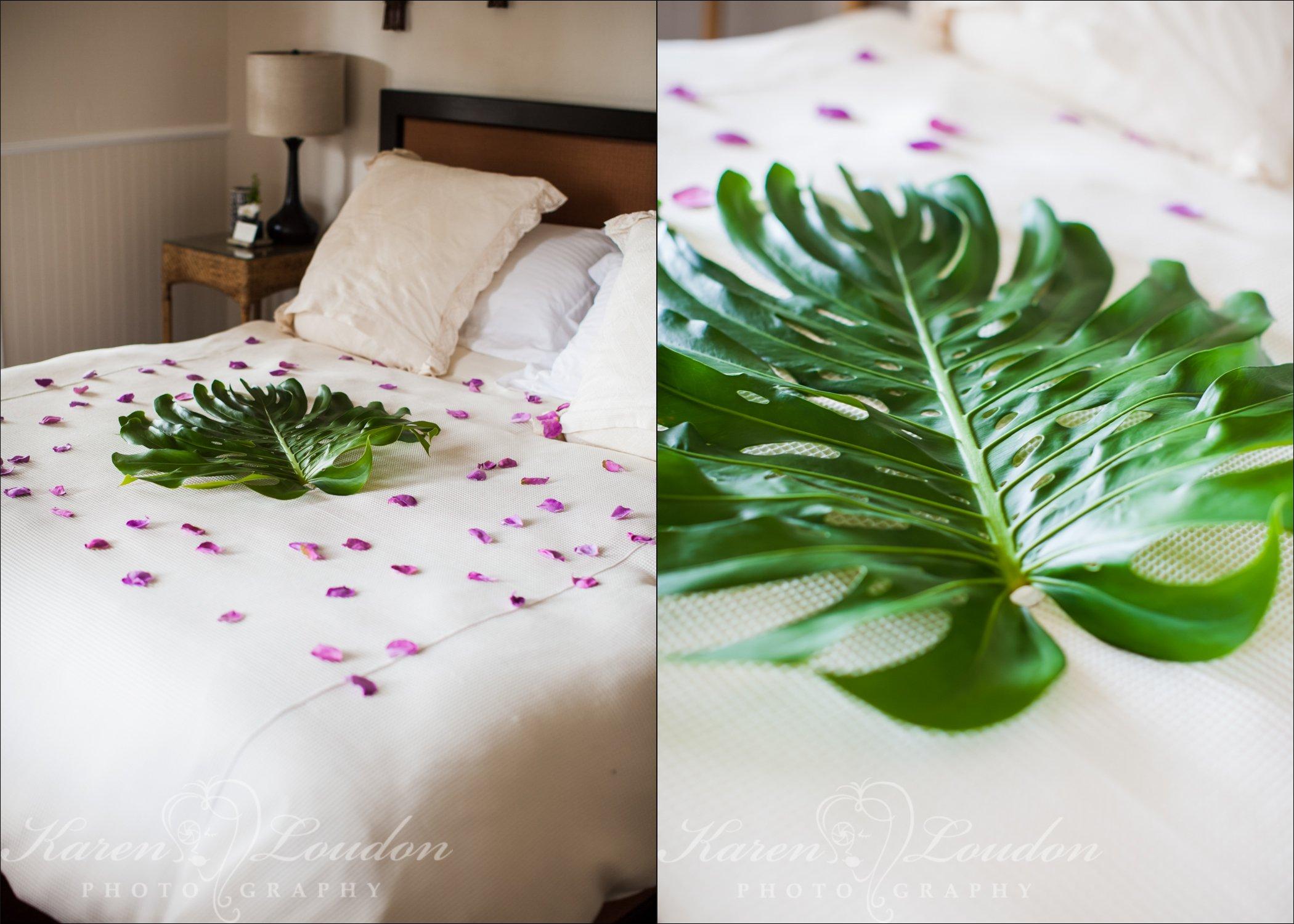 Holualoa wedding bed