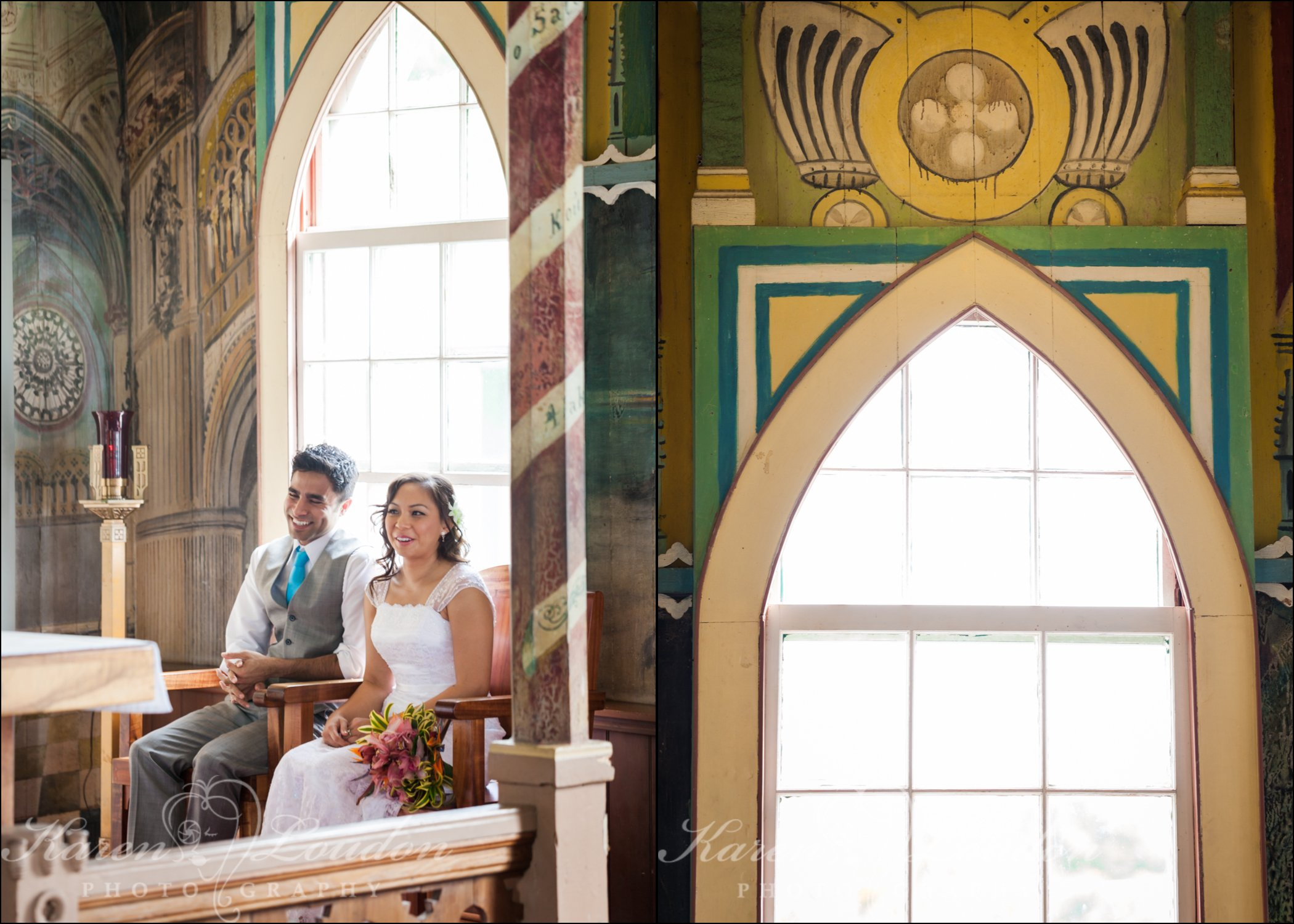 Painted Church wedding Hawaii