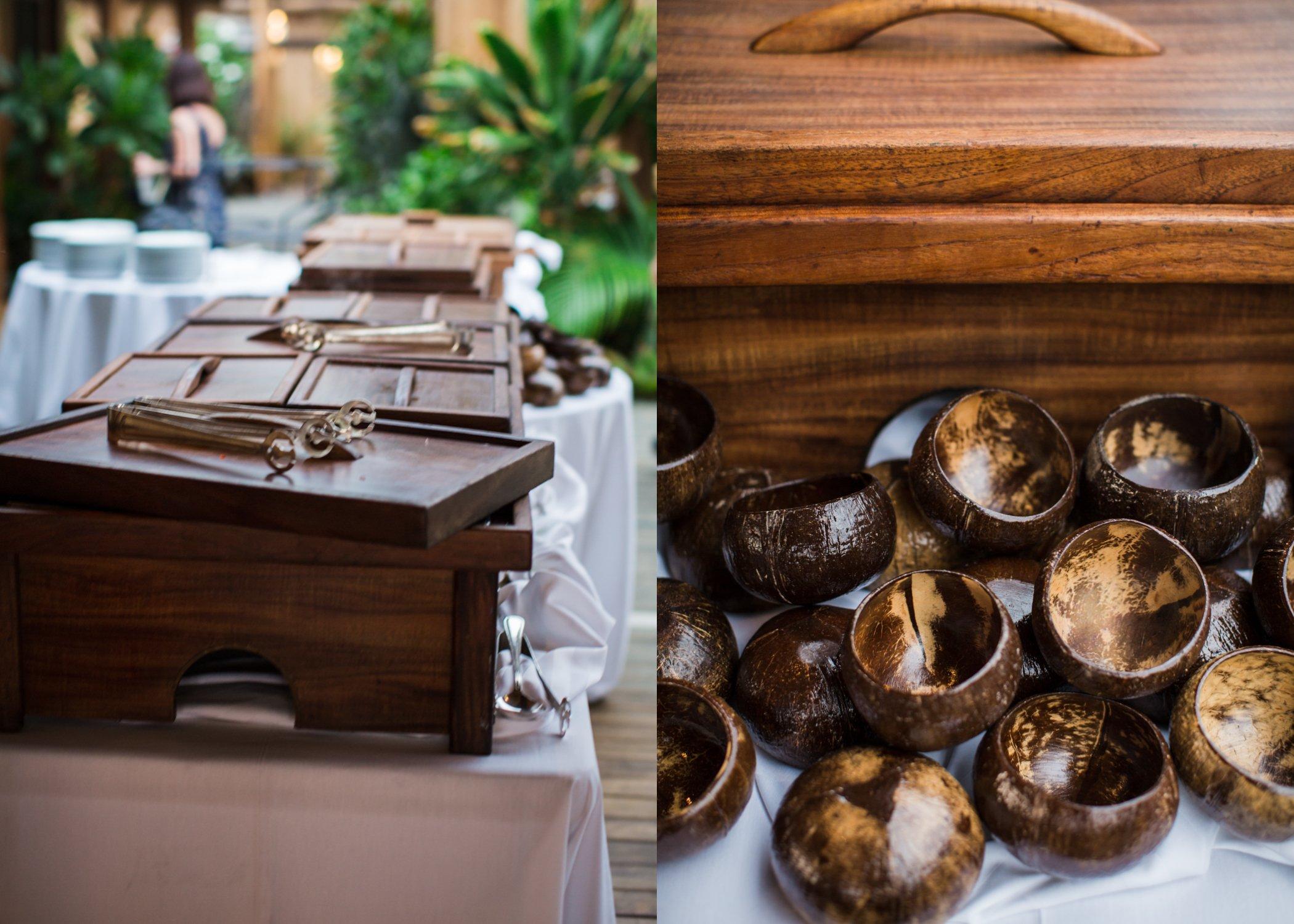 Kona Hawaii wedding reception