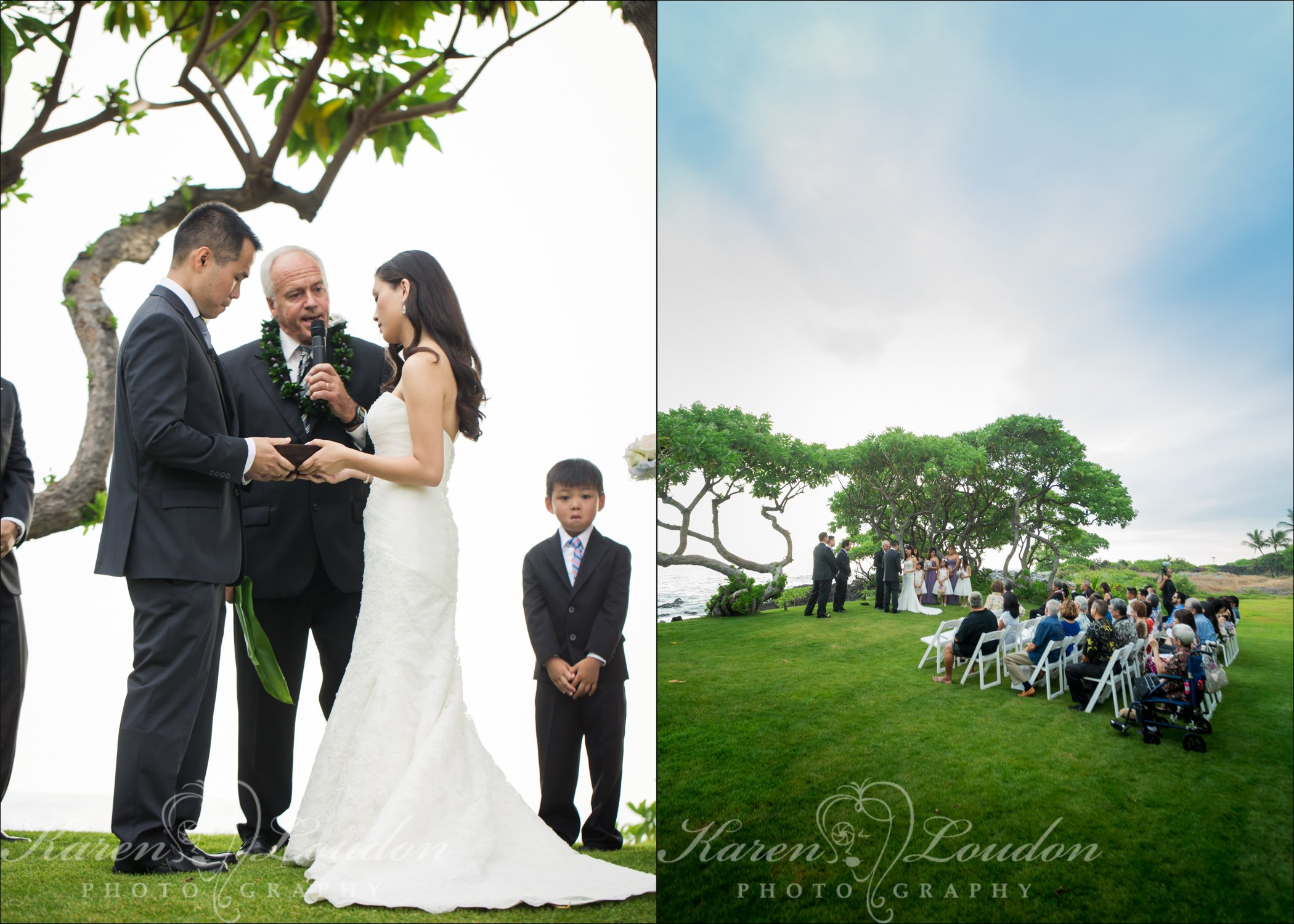 Kona private estate wedding