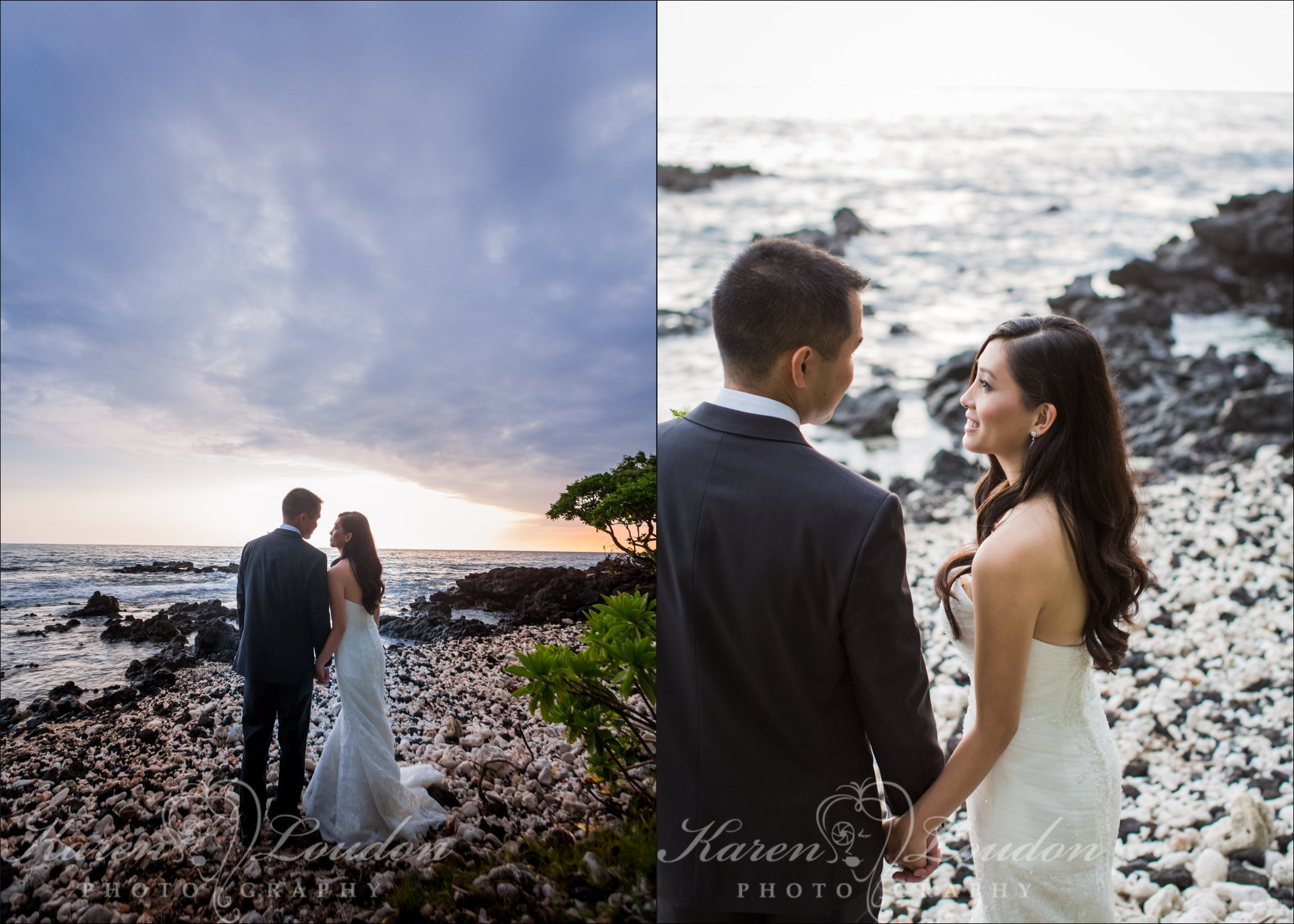 Kona sunset wedding photos