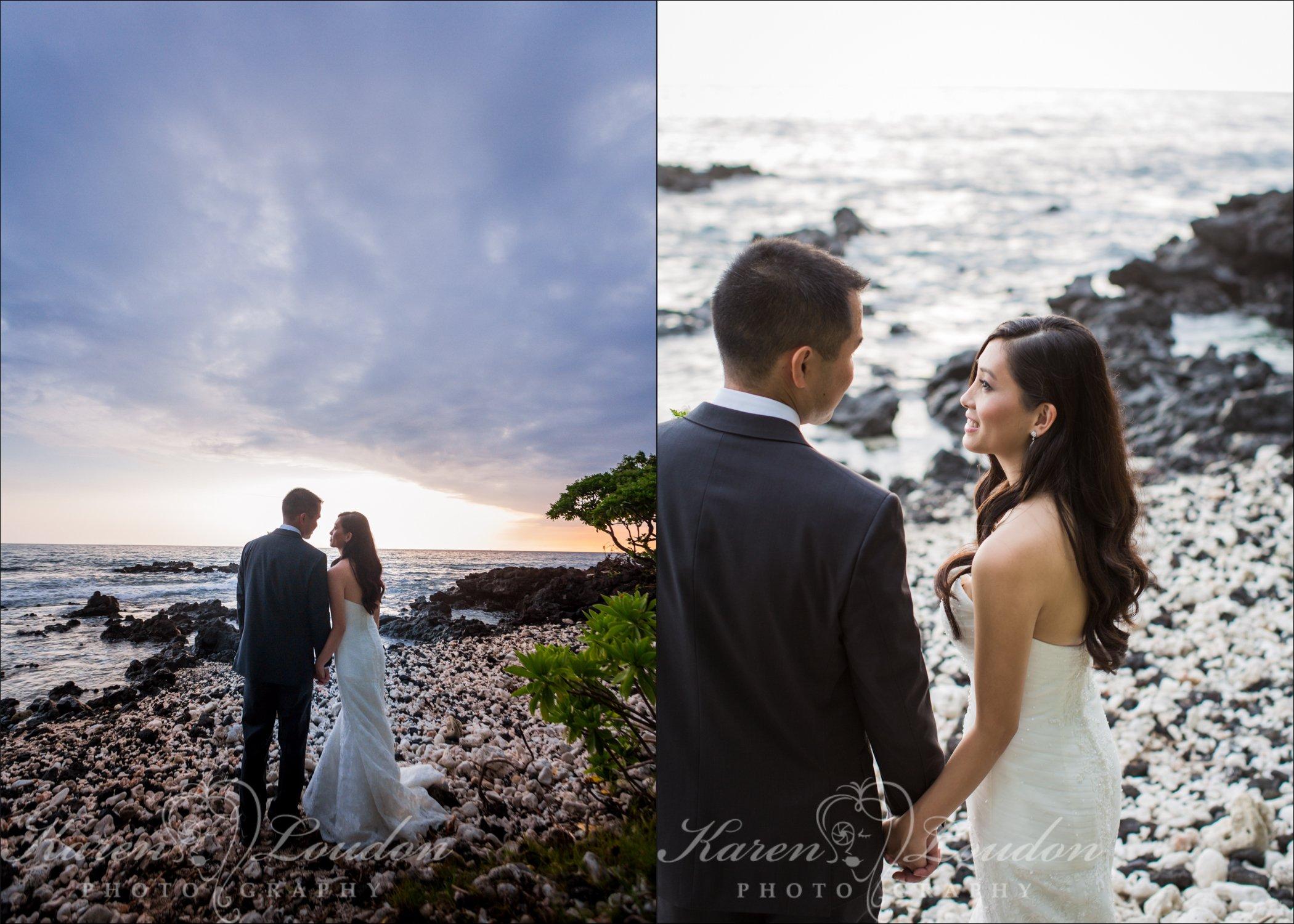 Kona sunset wedding photos