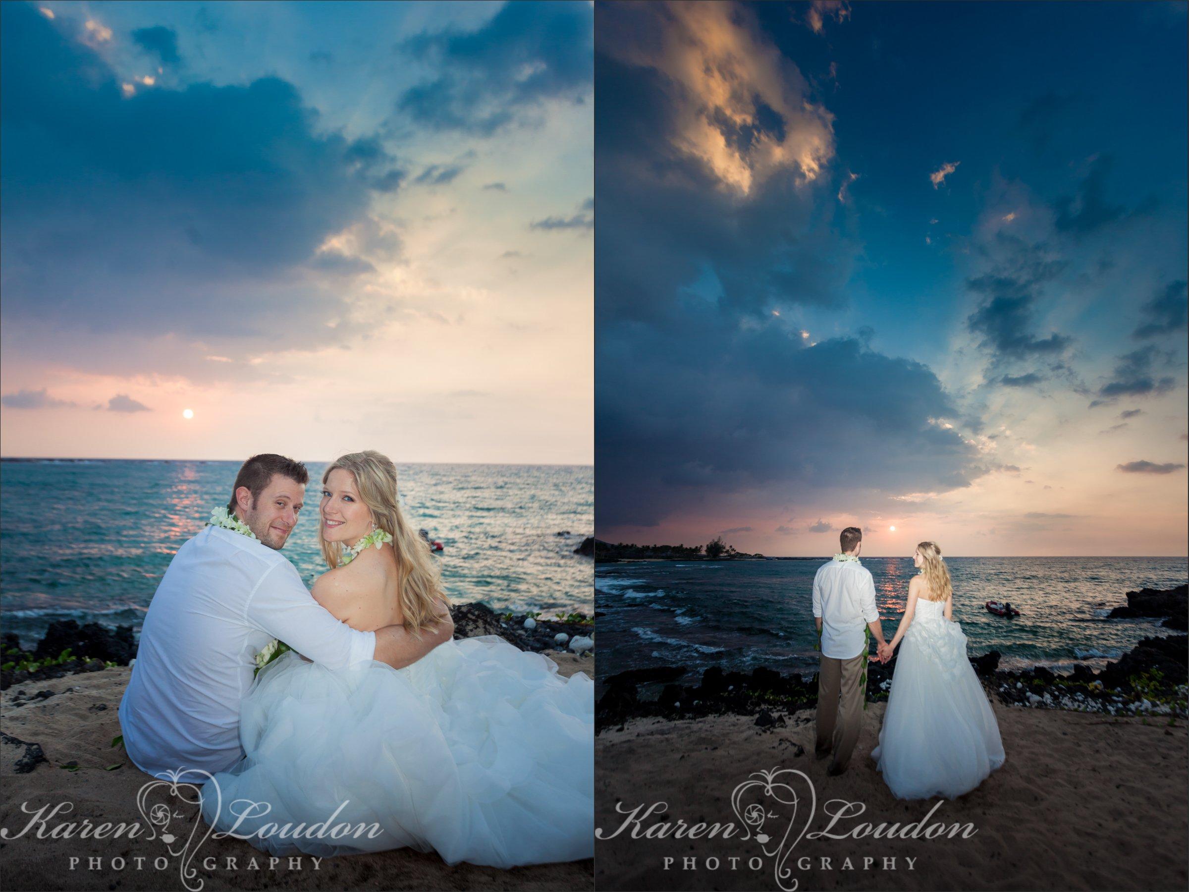 kukio beach big island hawaii wedding photography