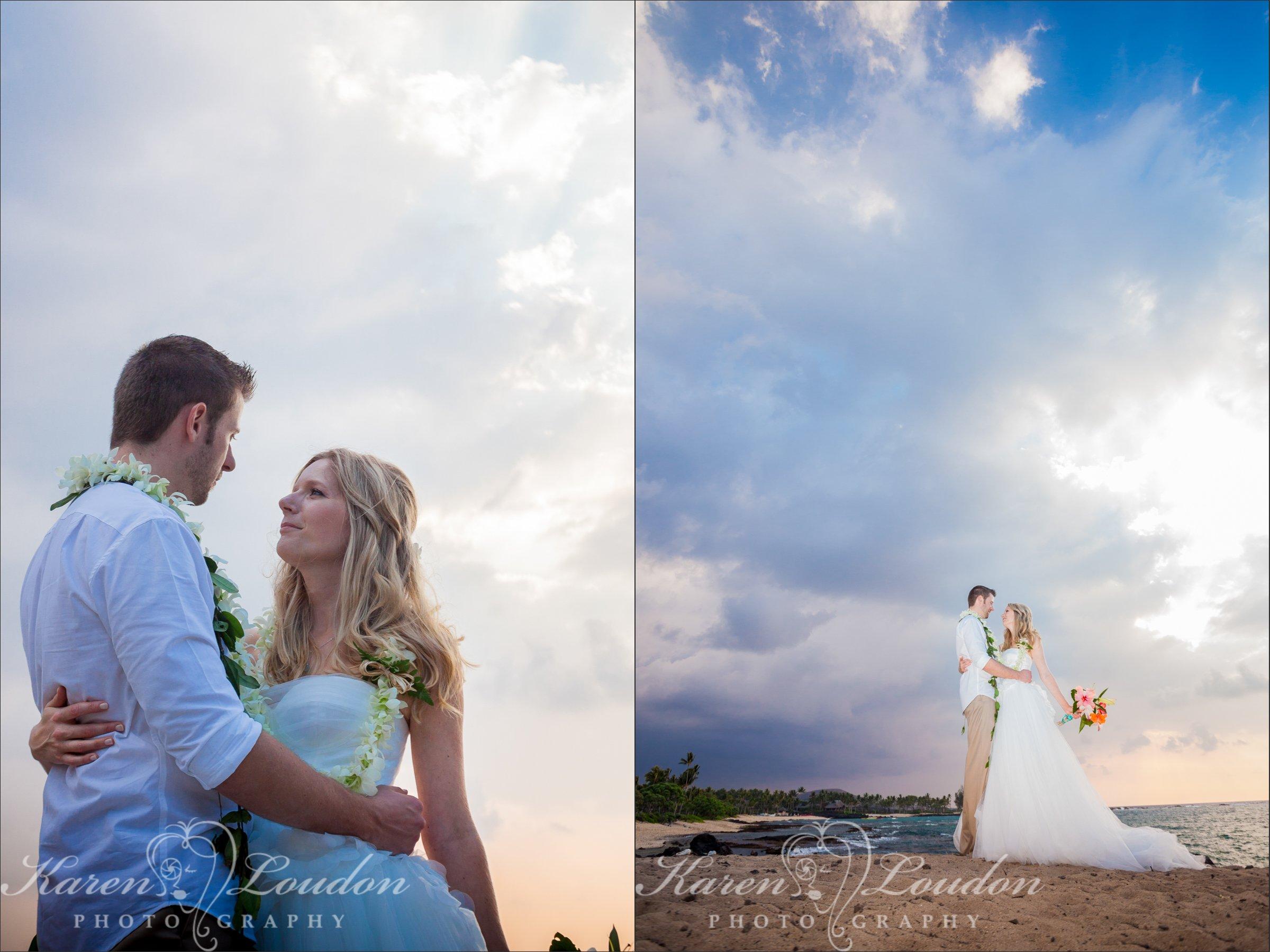 Kukio Beach Sunset Big Island Wedding Photography