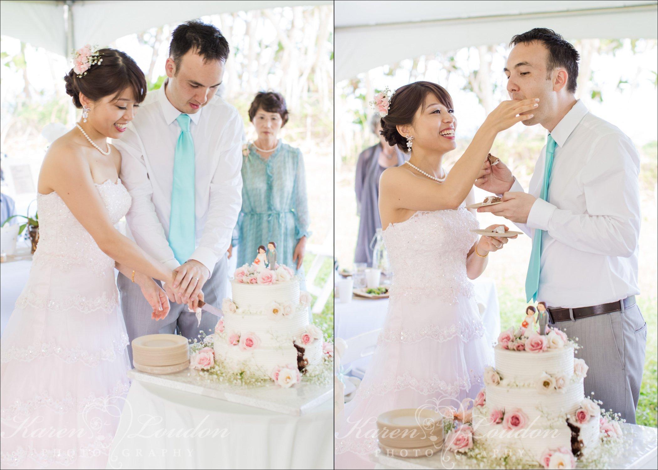 Big Island Hawaii Wedding Cake