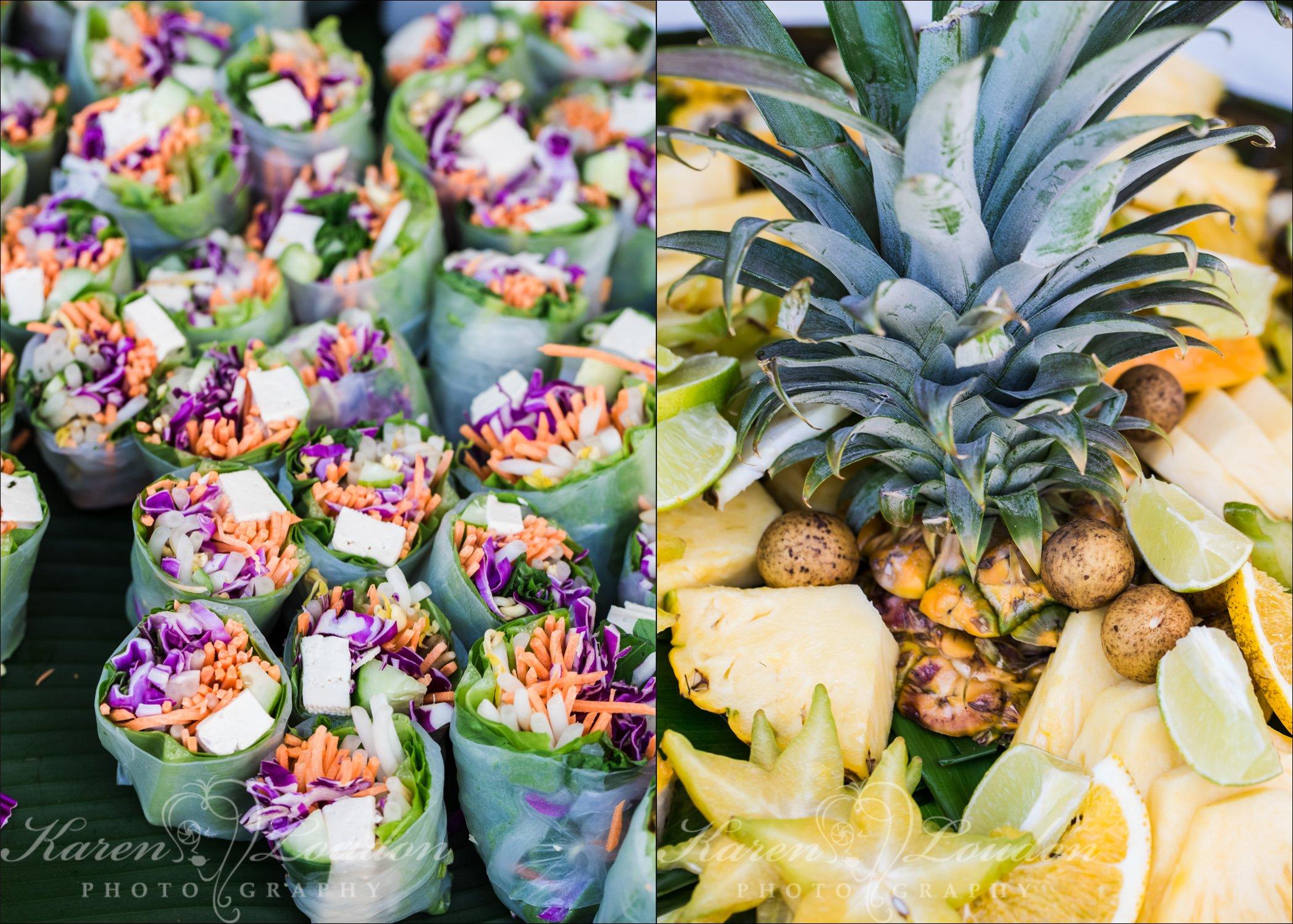 Hilo Wedding Food Photography
