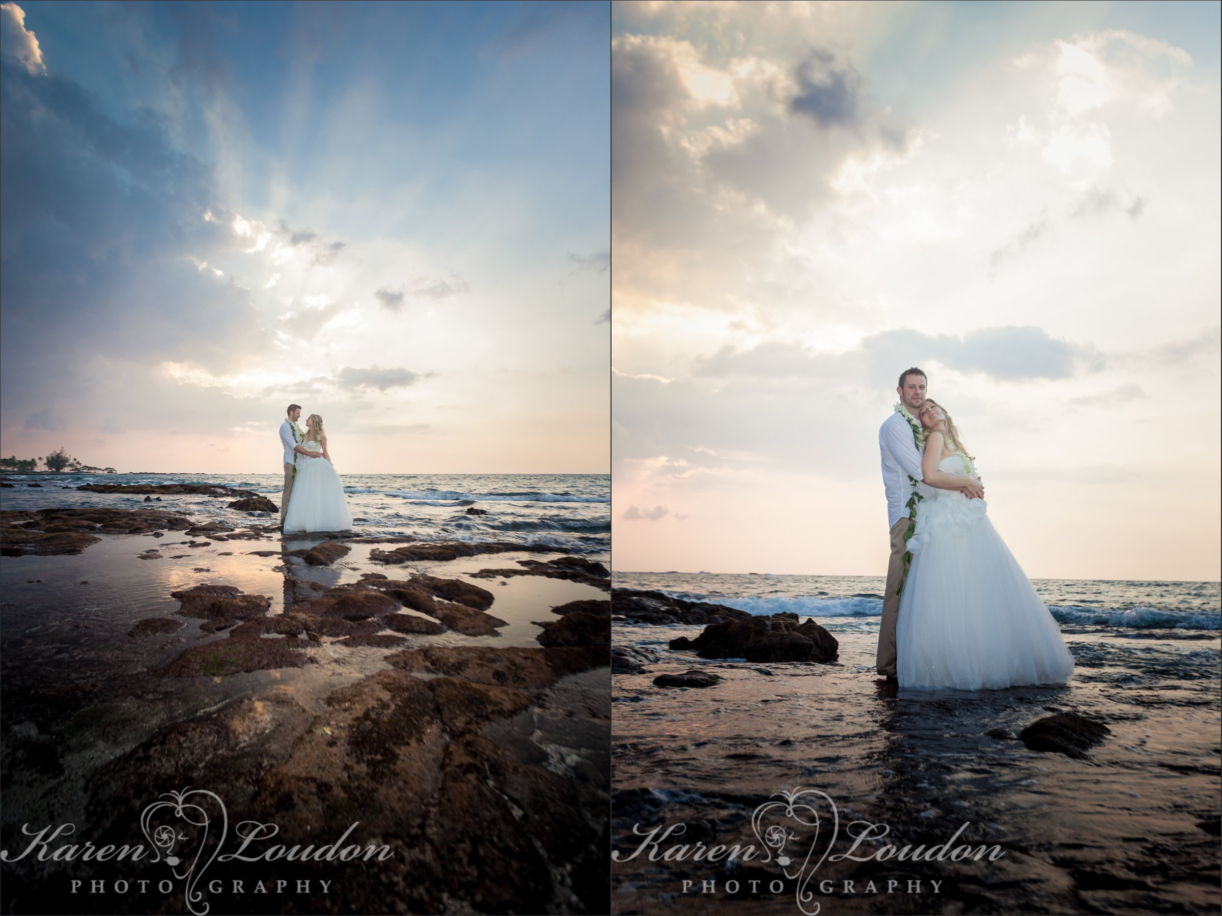 Kohala Coast Big Island Hawaii Sunset Wedding