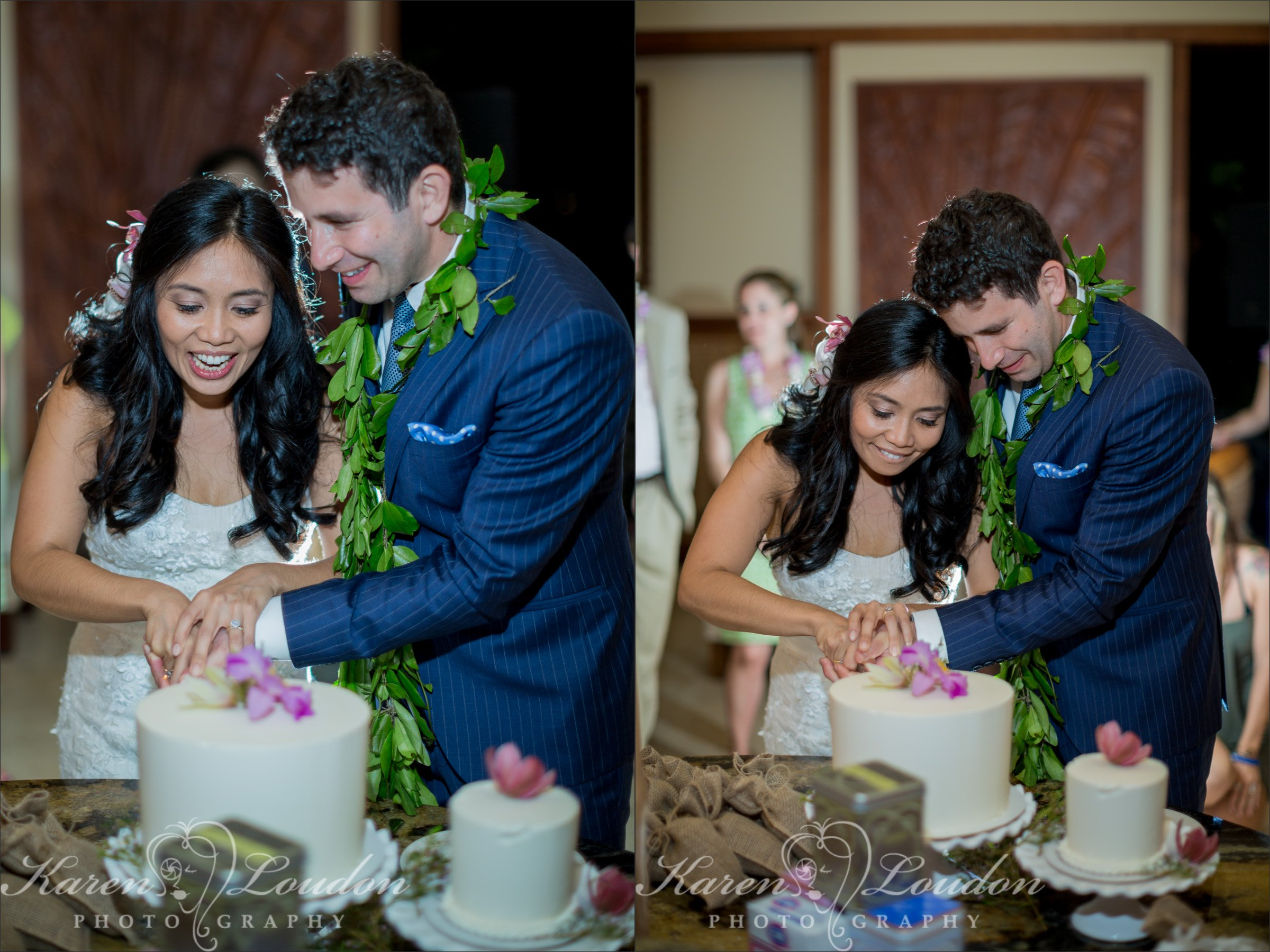 Big Island Wedding Cake Photography