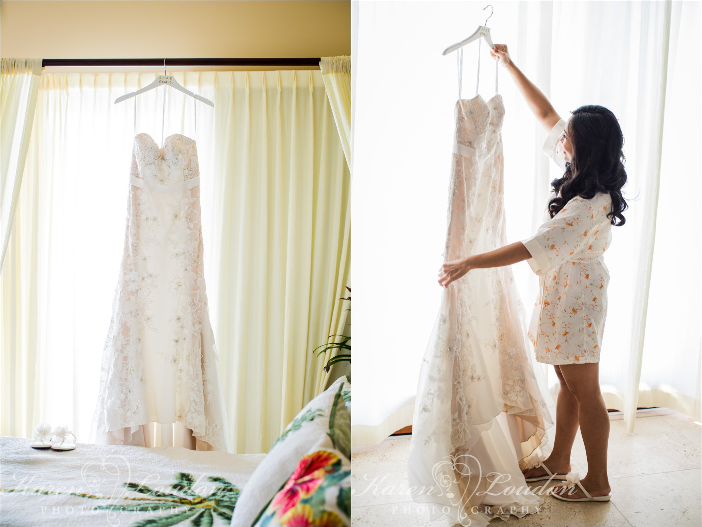 Kailua Kona Big Island Wedding Dress Photographer