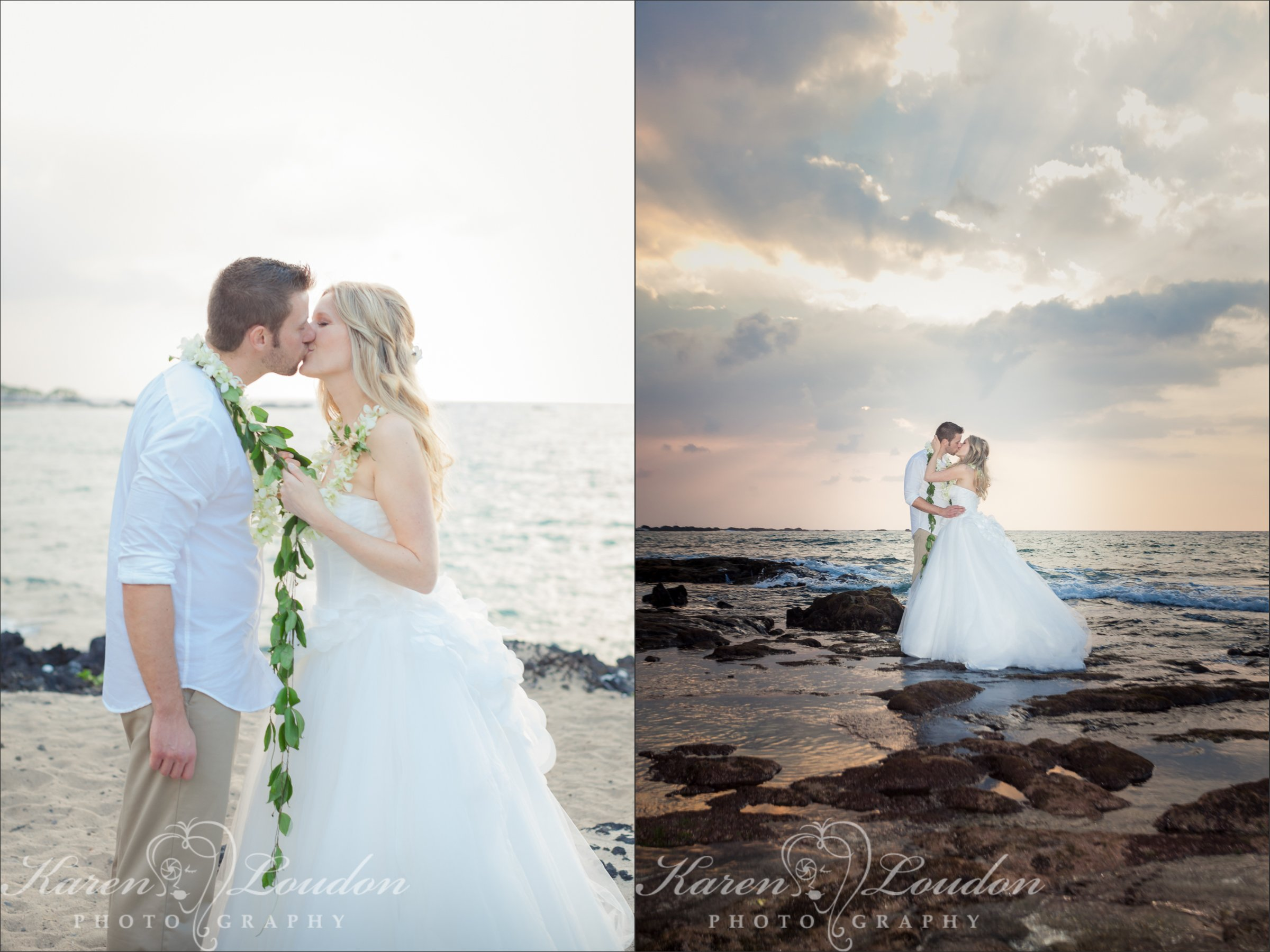 Big Island Wedding Sunset Photography Kukio Beach