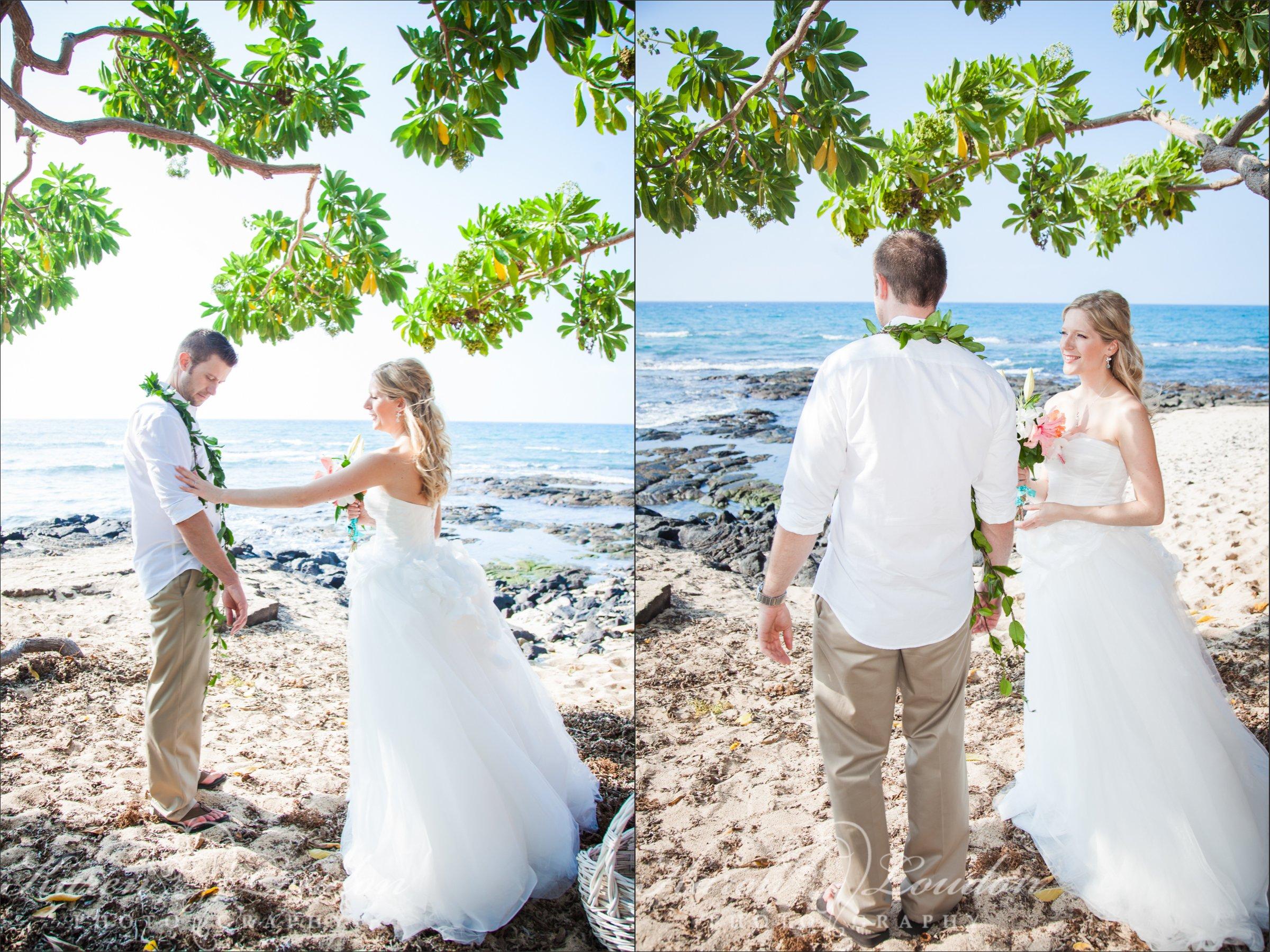 Kukio Beach Big Island Wedding Ceremony Photography