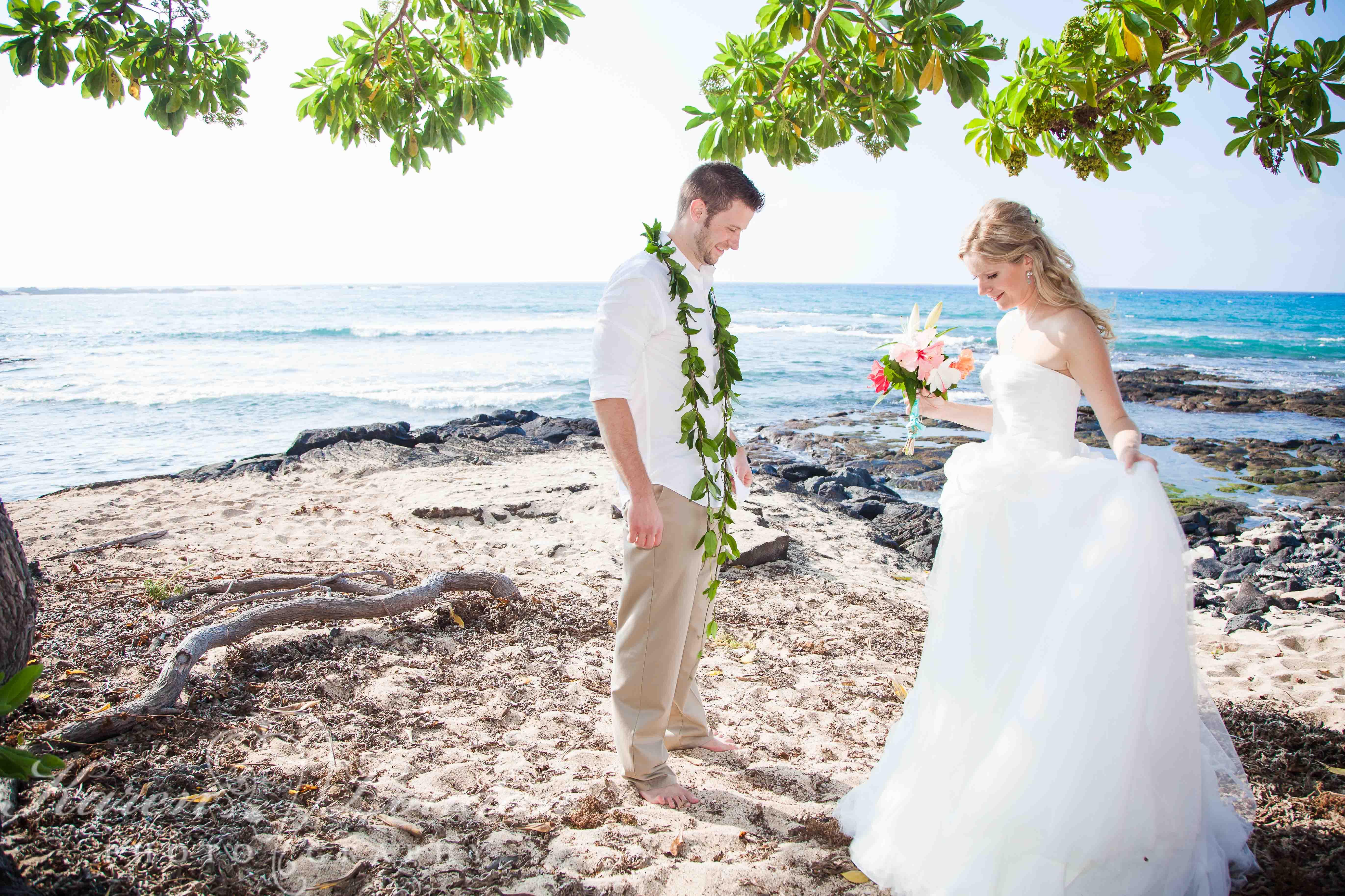 Big Island Kukio Beach Hawaii Wedding