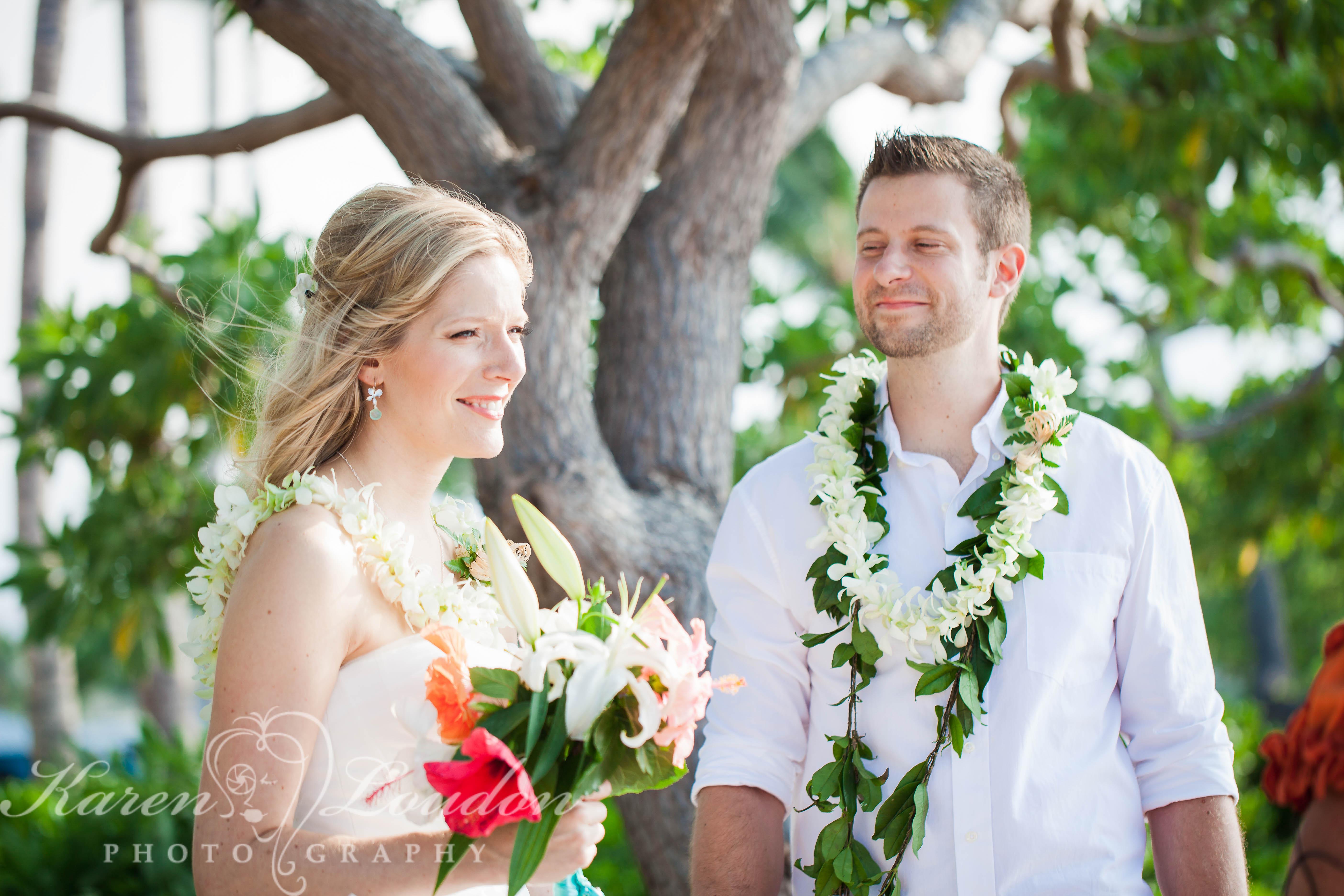 Kikaua Point Wedding Photography