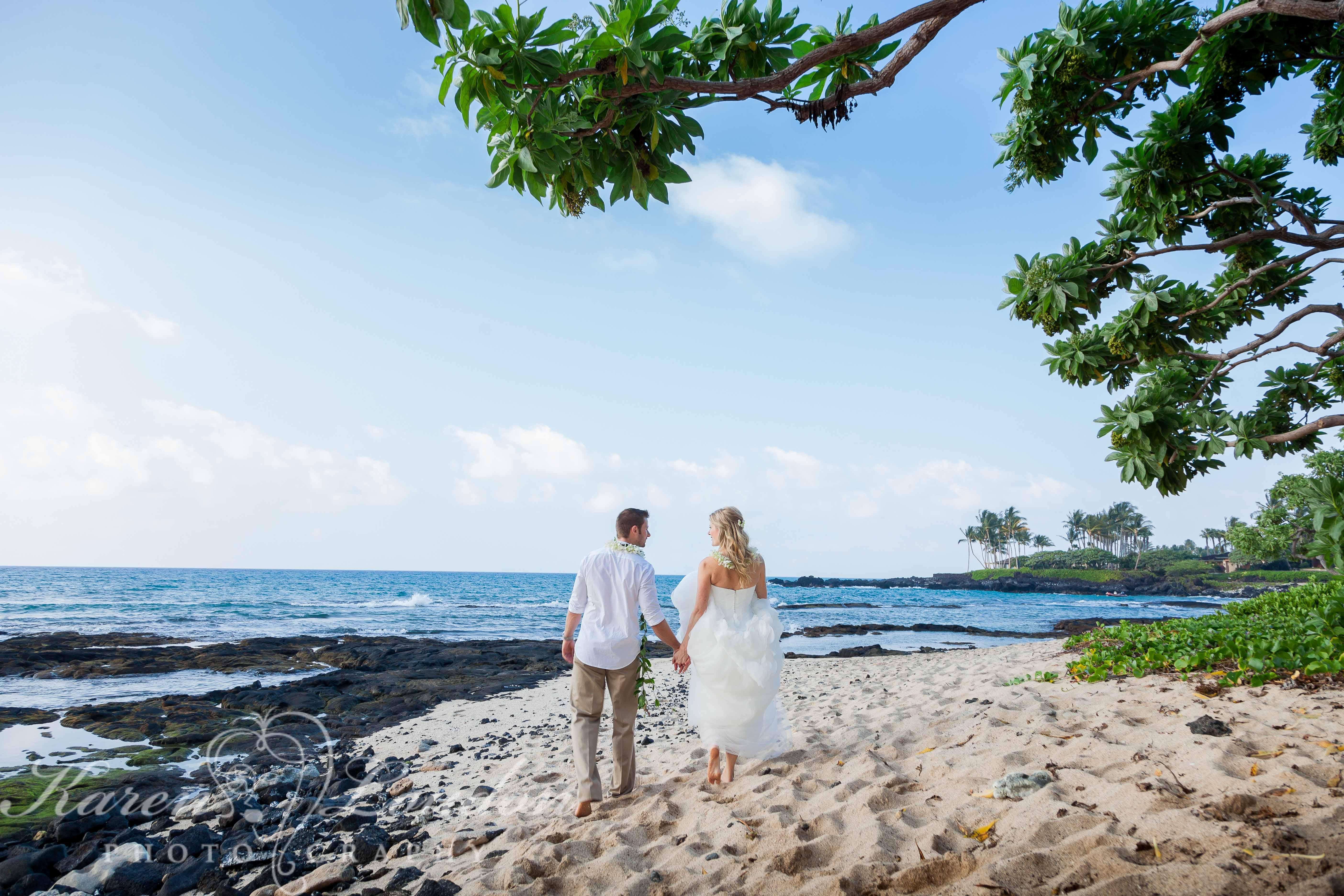 Kona, Hawaii Wedding Photography Kukio Beach
