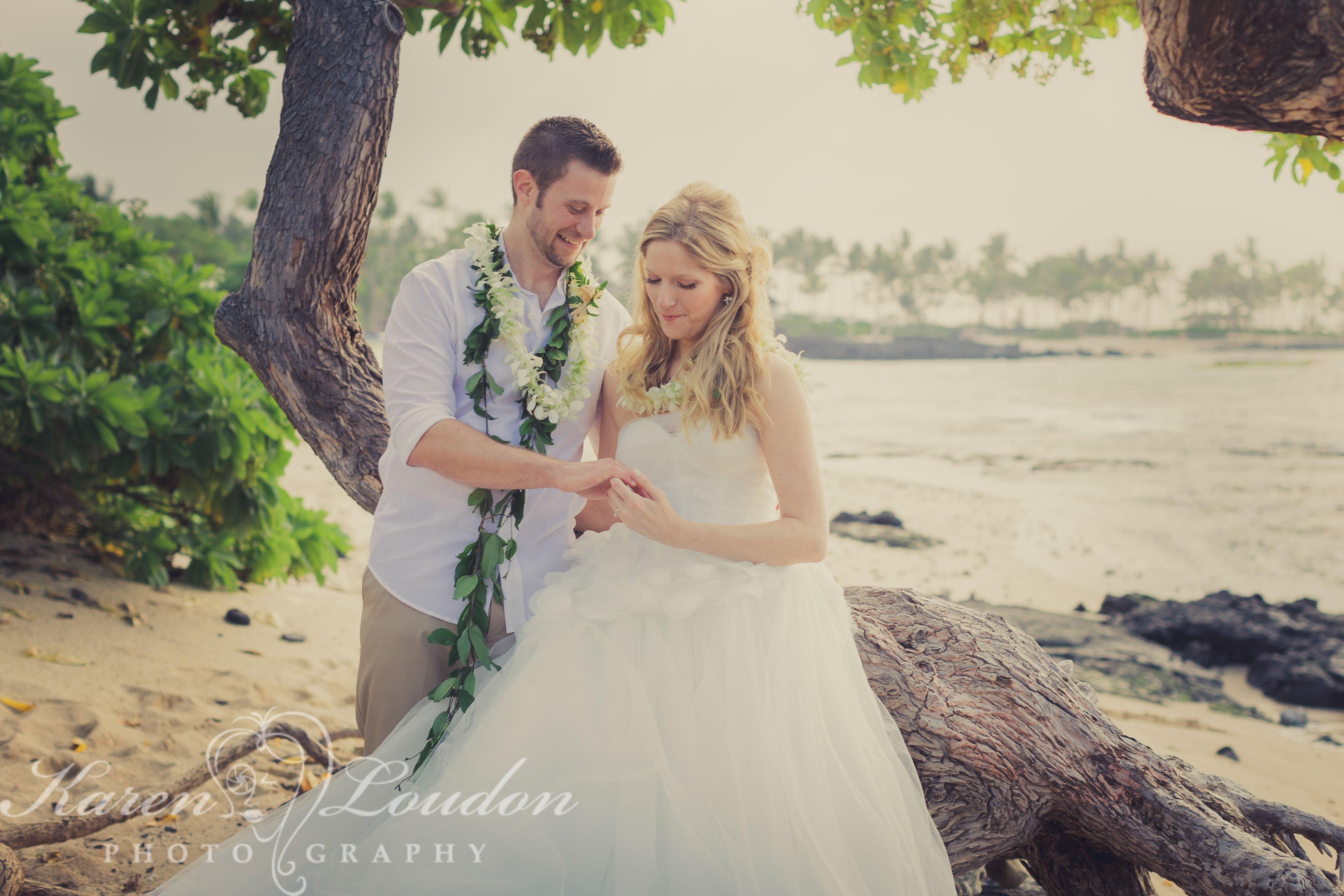 Kukio Beach Wedding Hawaii
