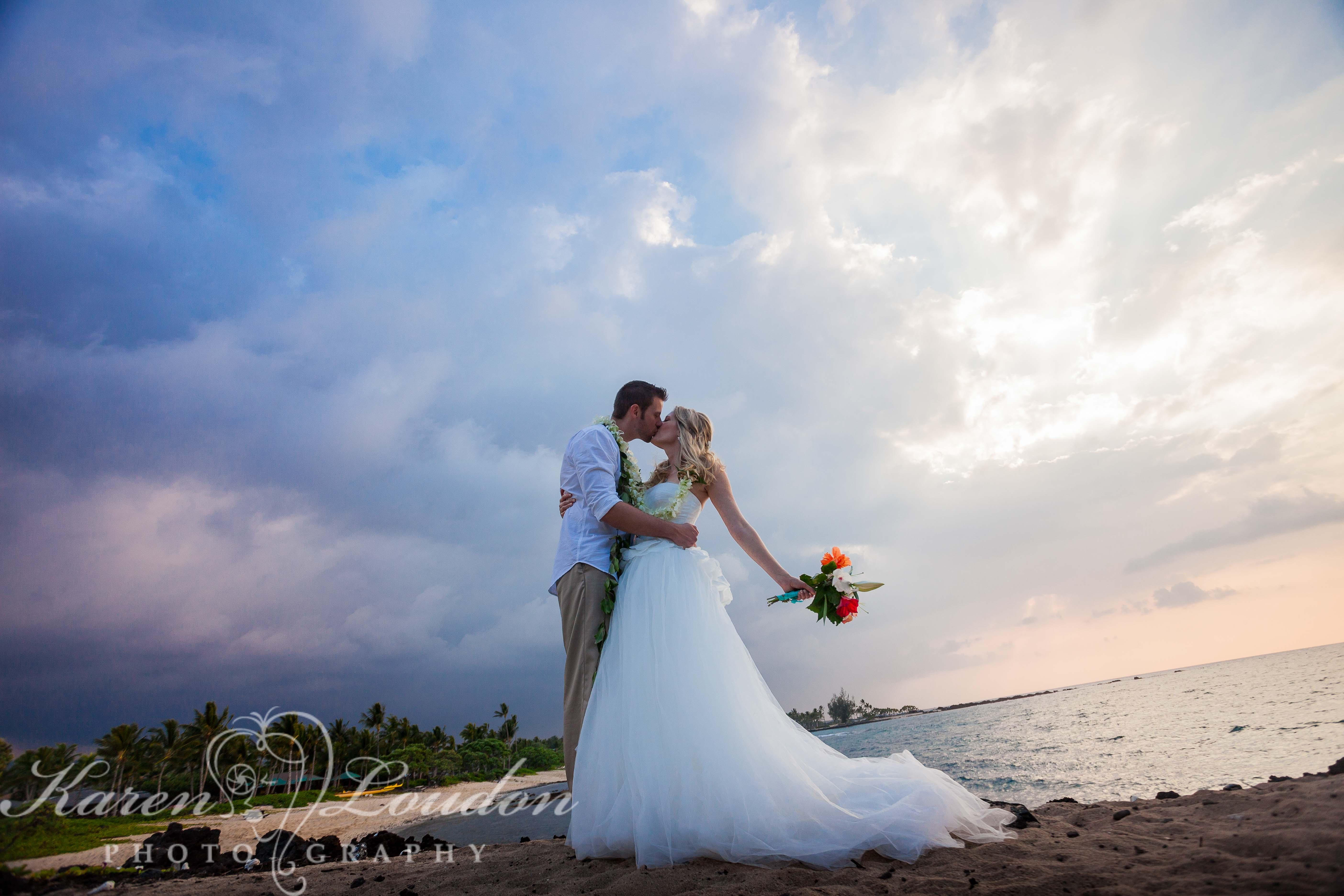 Big Island Wedding Photographer Kukio Beach