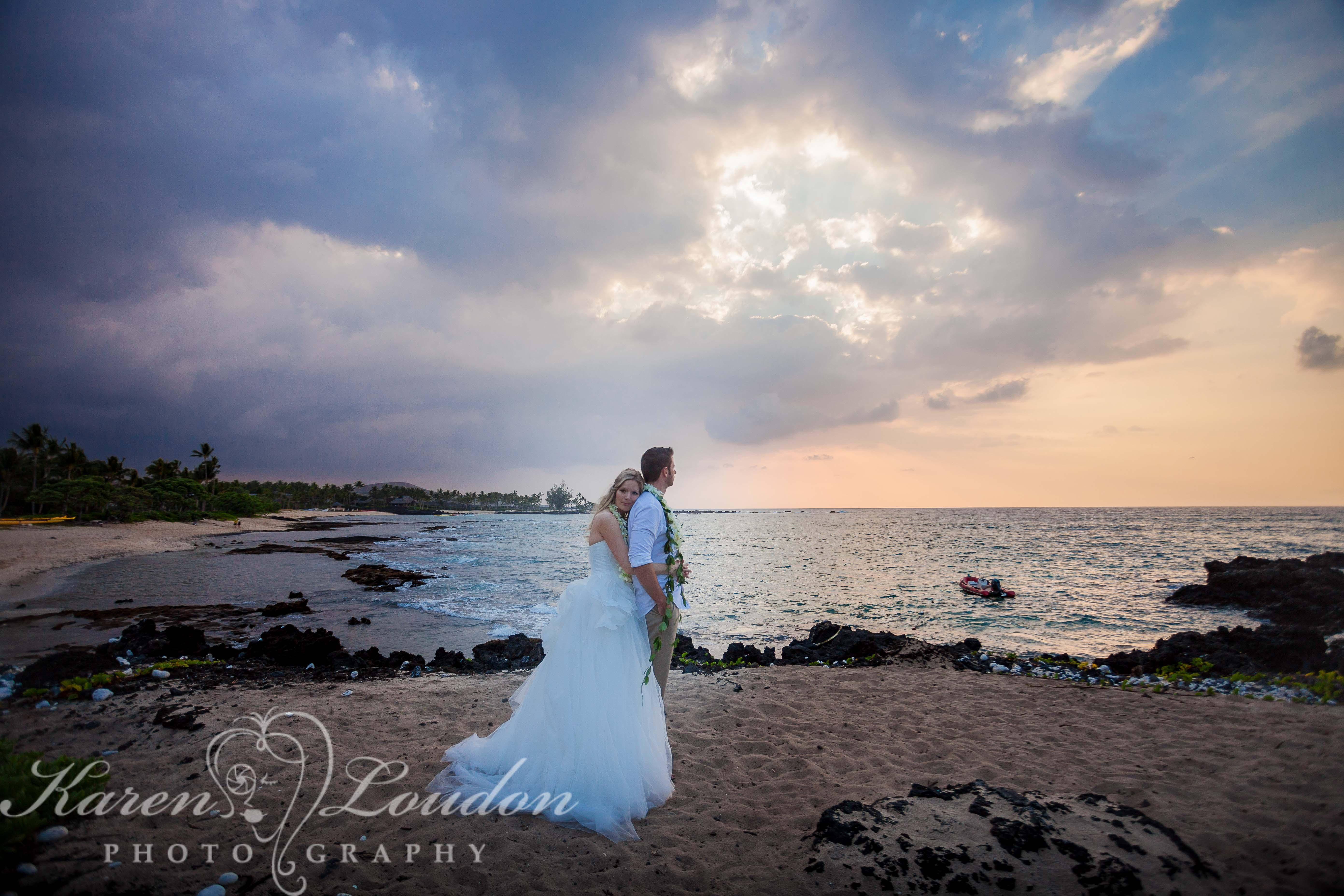 kukio beach sunset wedding photography