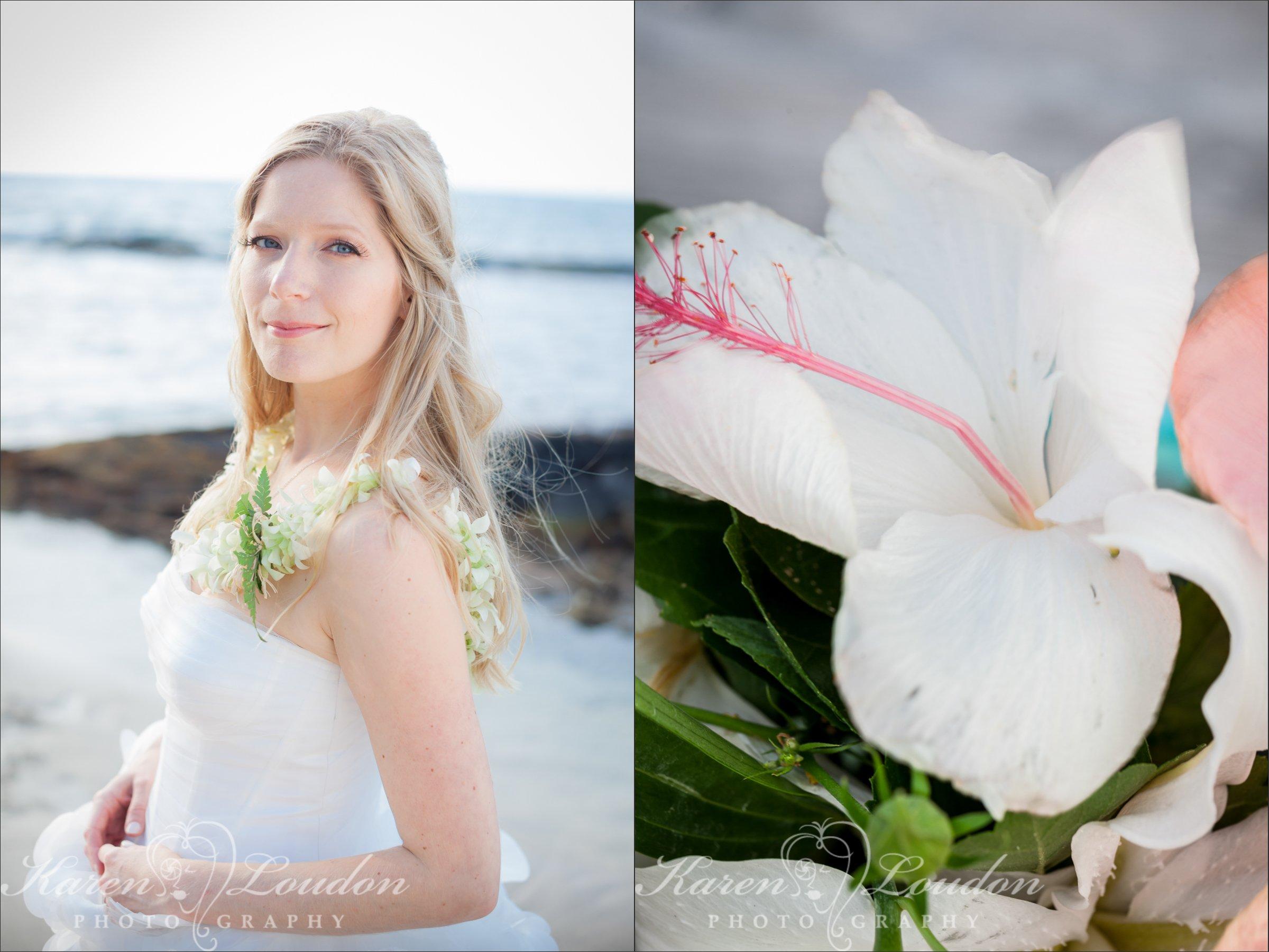 Kukio Bay Wedding Bride Photography