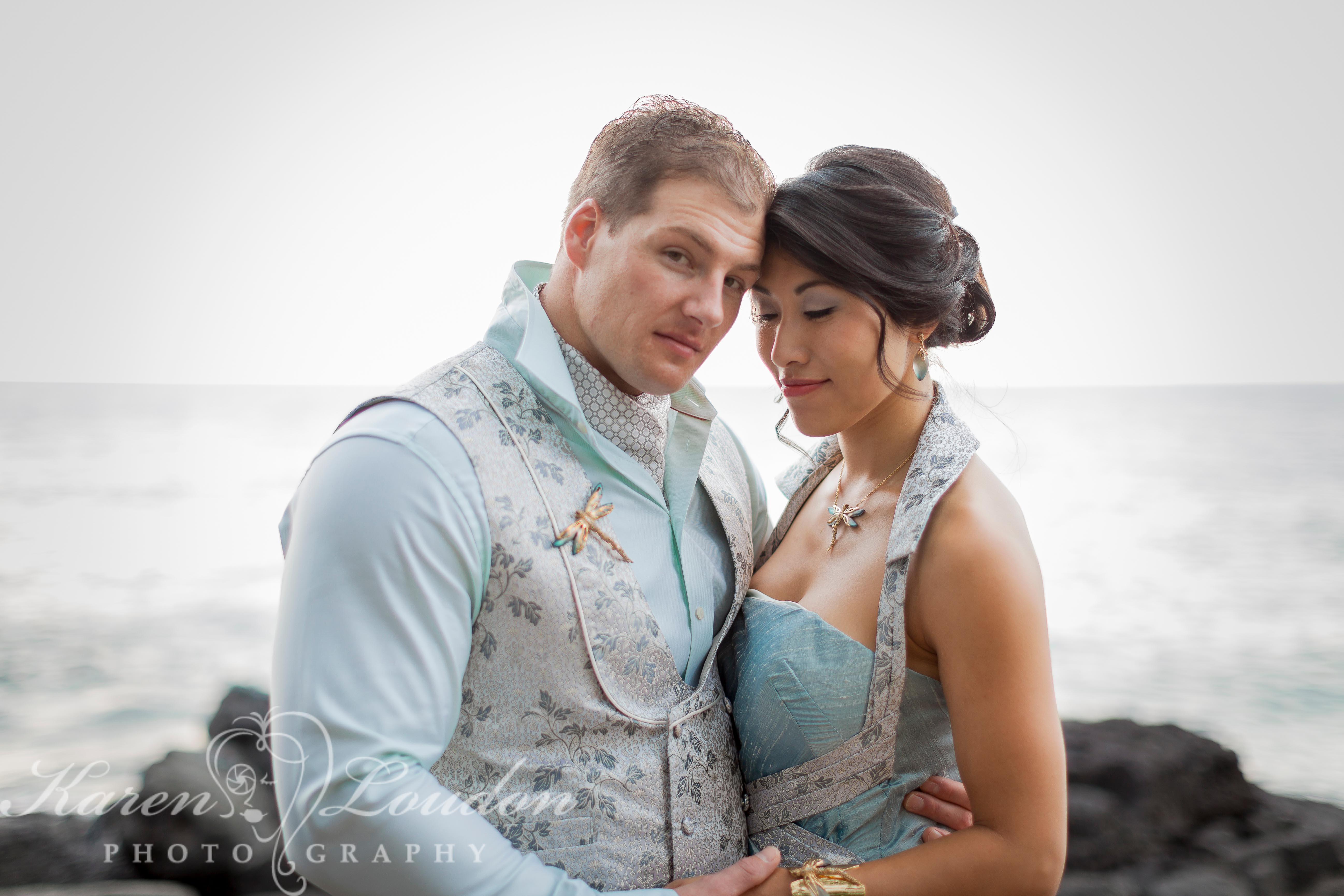 Sheraton Wedding Kona Hawaii Bride and Groom Photography