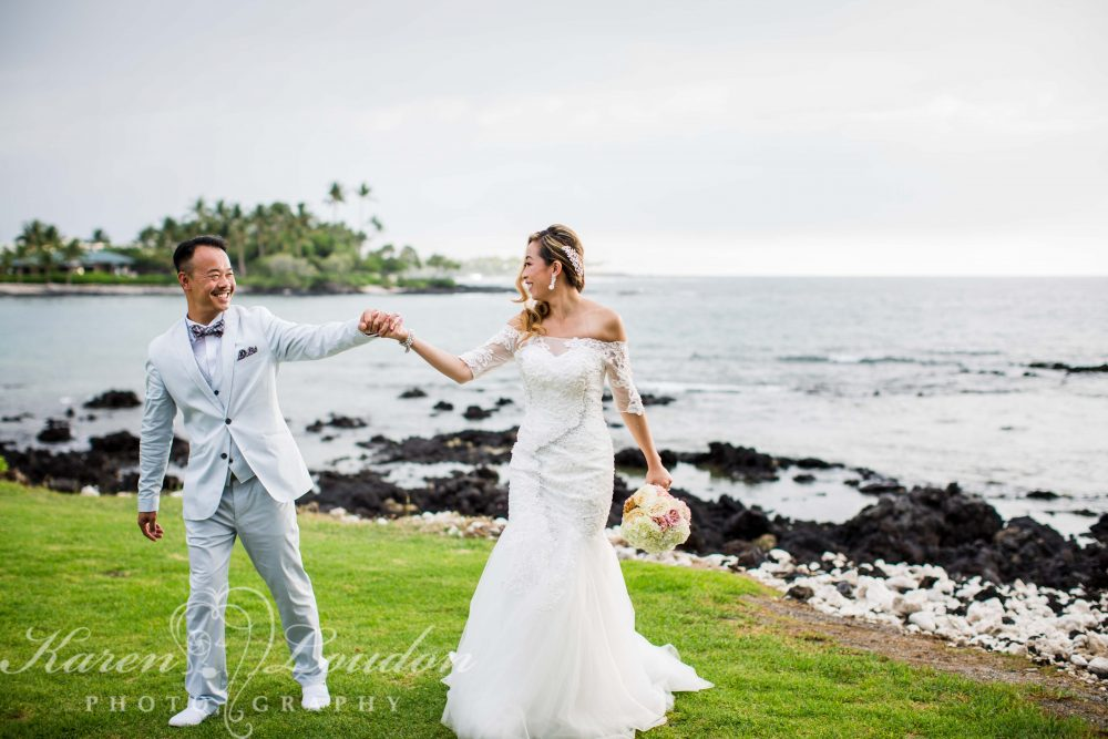 Bride and Groom Big Island Hawaii