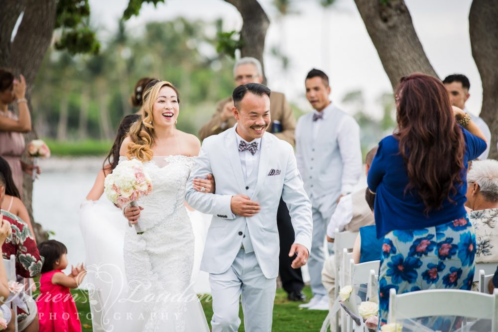 Bride and Groom Waikaloa Wedding Reception