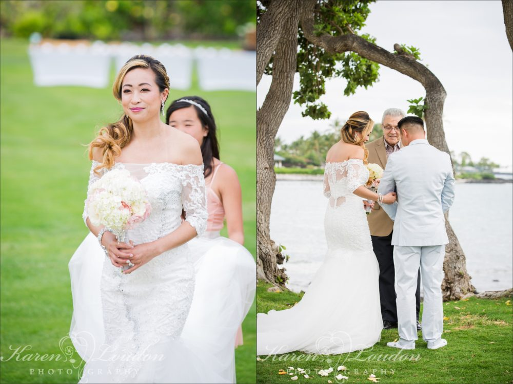 Fairmont Orchid Wedding Ceremony