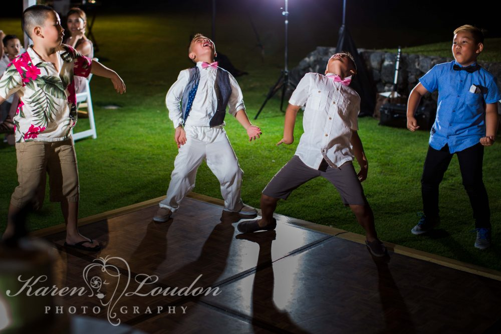 Kohala wedding reception