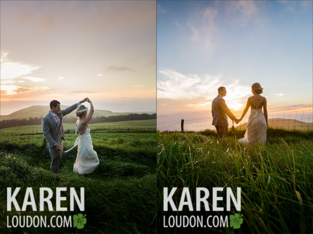 Kahua Ranch Sunset wedding