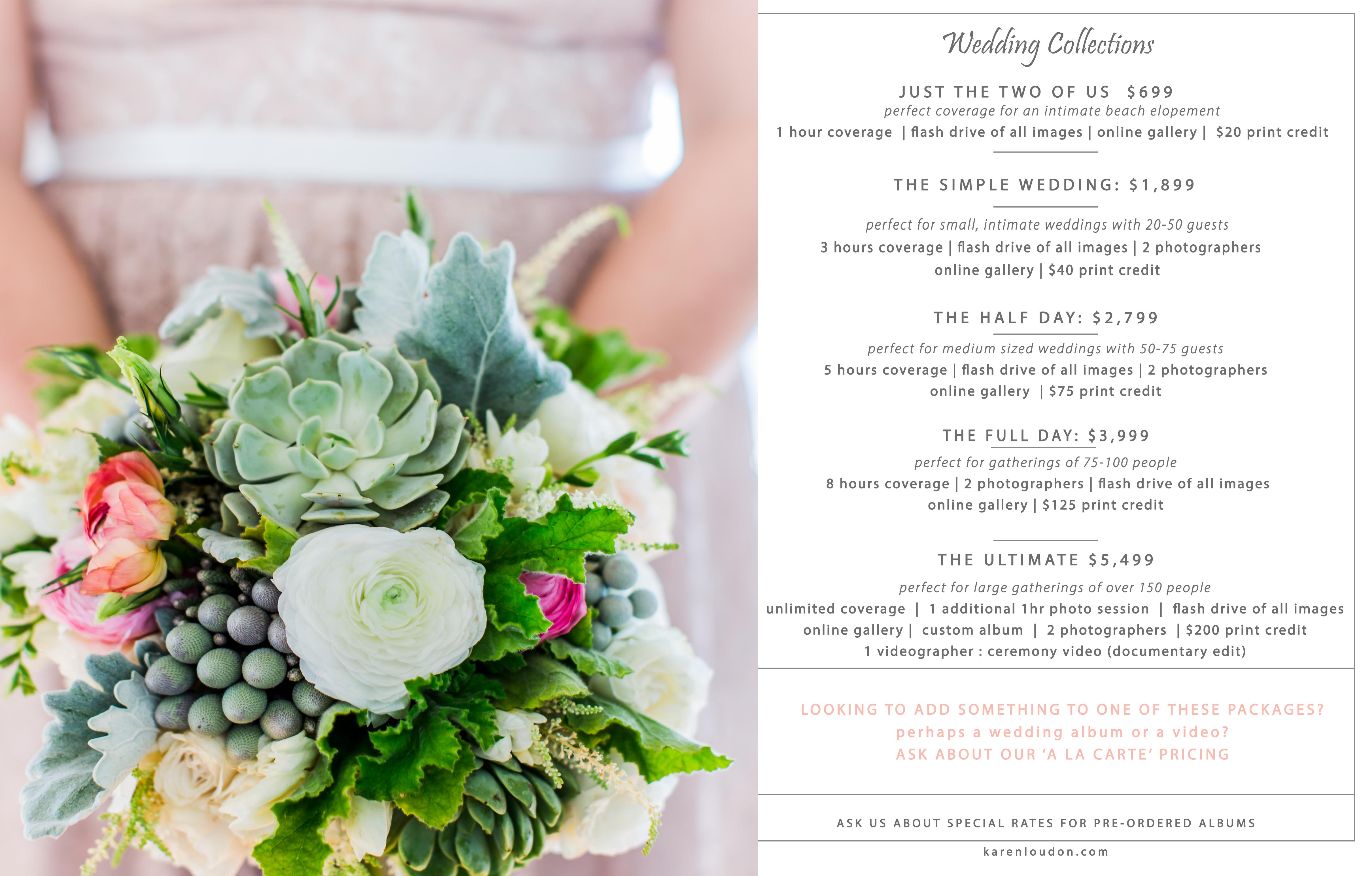 Wedding Album Price List
