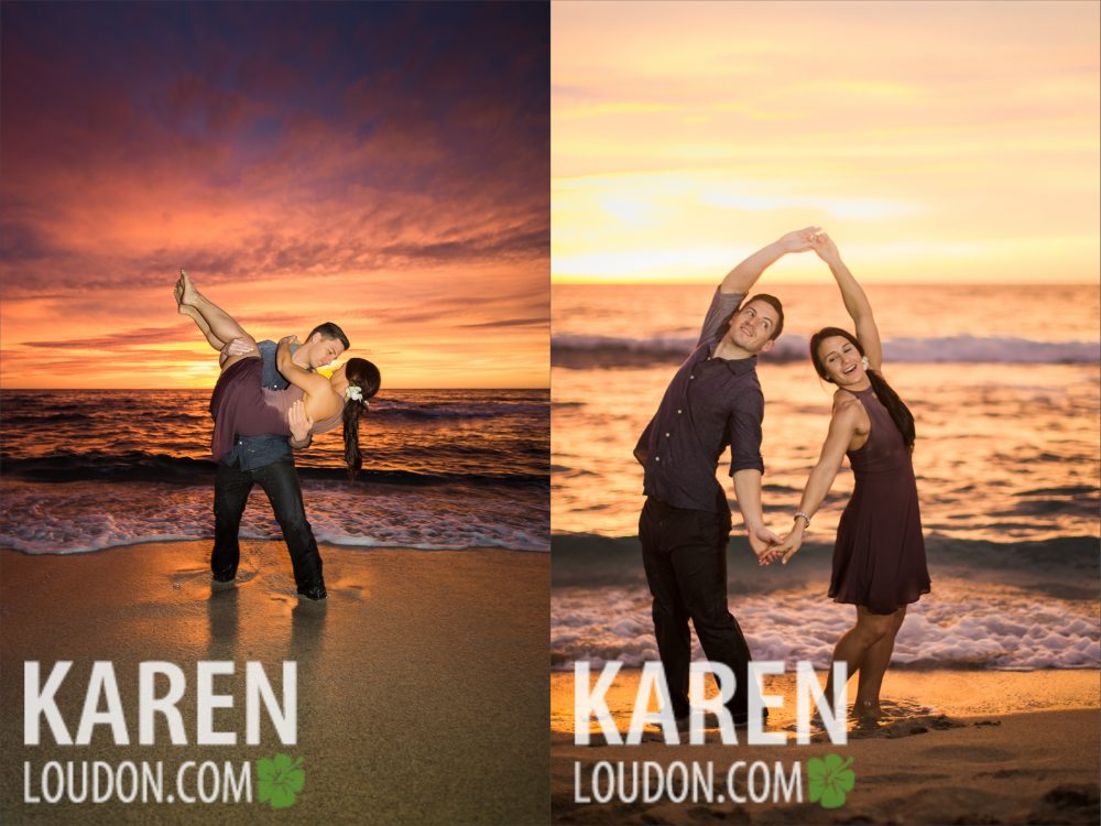 Kukio engagement photography
