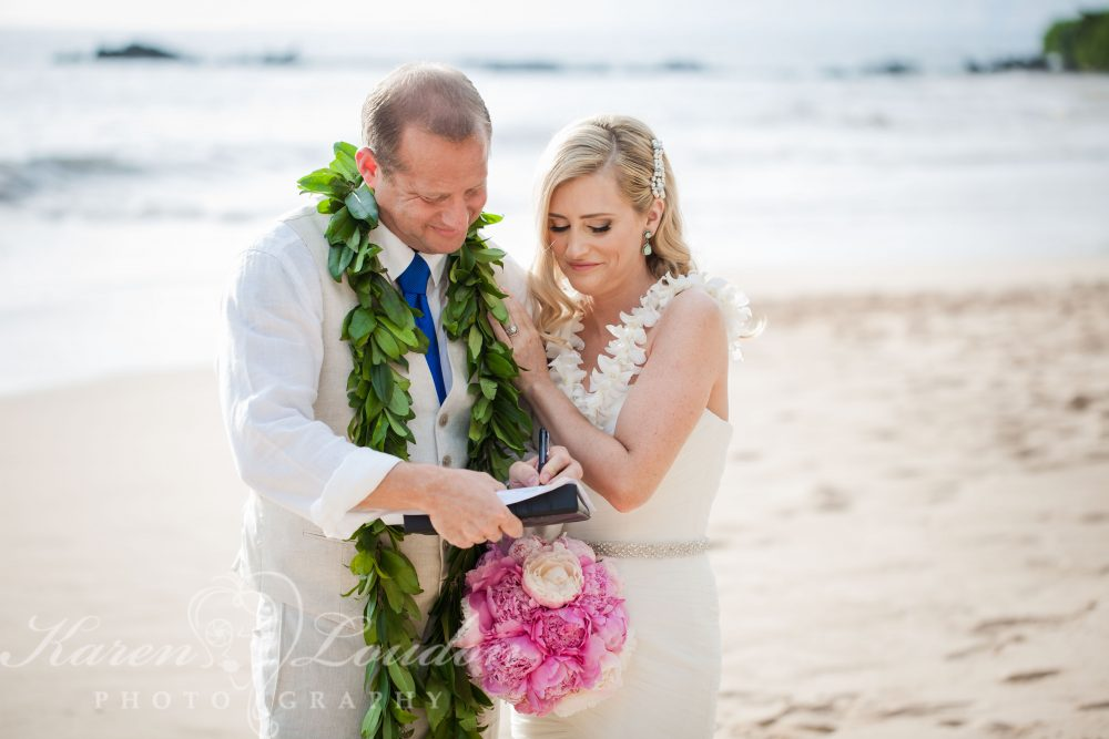 White Rock Beach Maui wedding