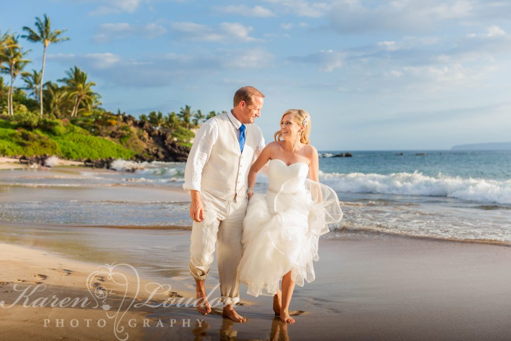 Maui White Rock Beach bride